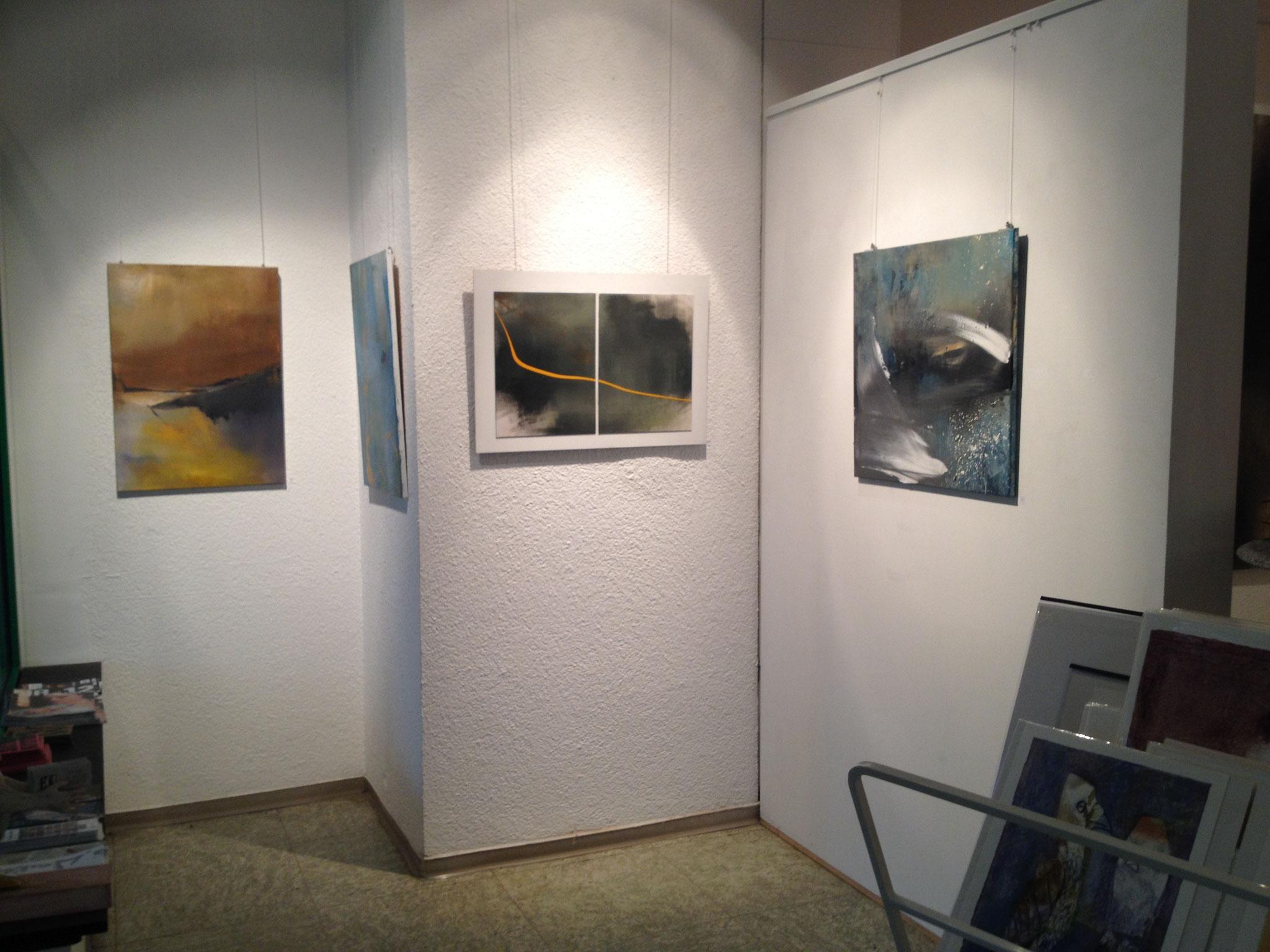 """Ausstellungsansicht """"Controlled Accident"""", Galerie Bode Karlsruhe 2014"""
