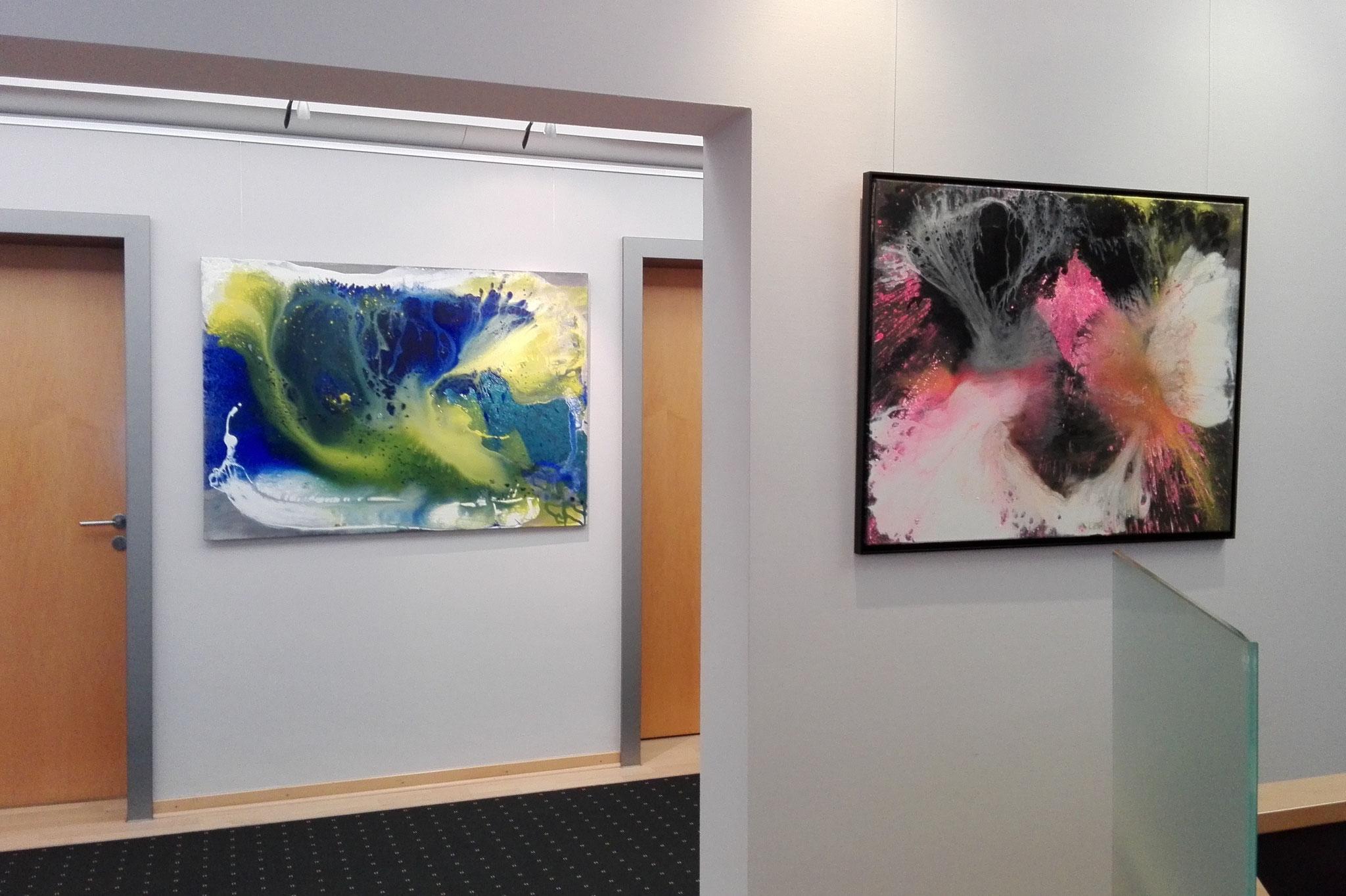 """Ausstellungsansicht """"Barbados"""", Sparkasse Heidelberg 2016"""