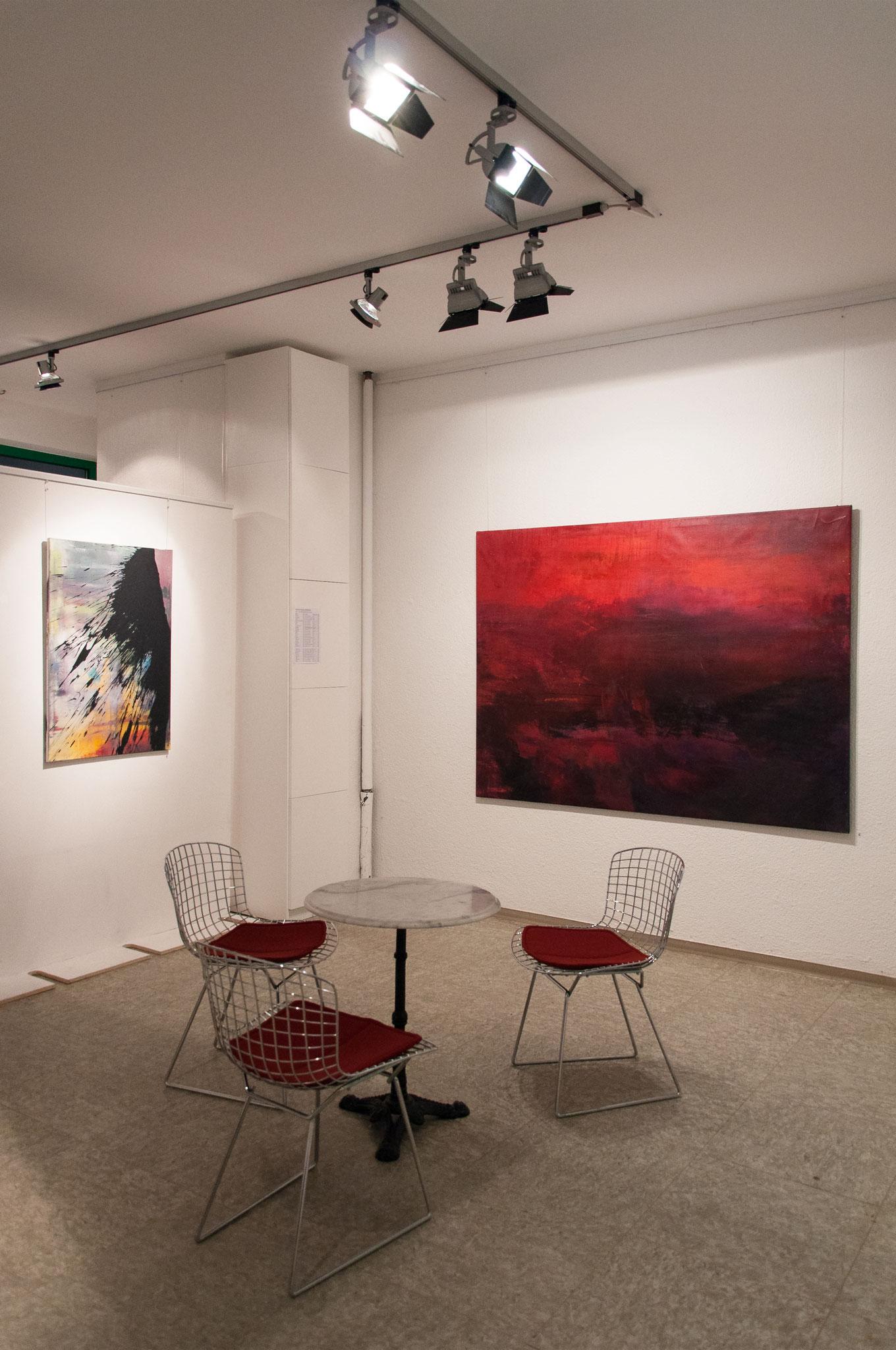 """Ausstellungsansicht """"Barbados"""", Galerie Bode Karlsruhe 2015"""