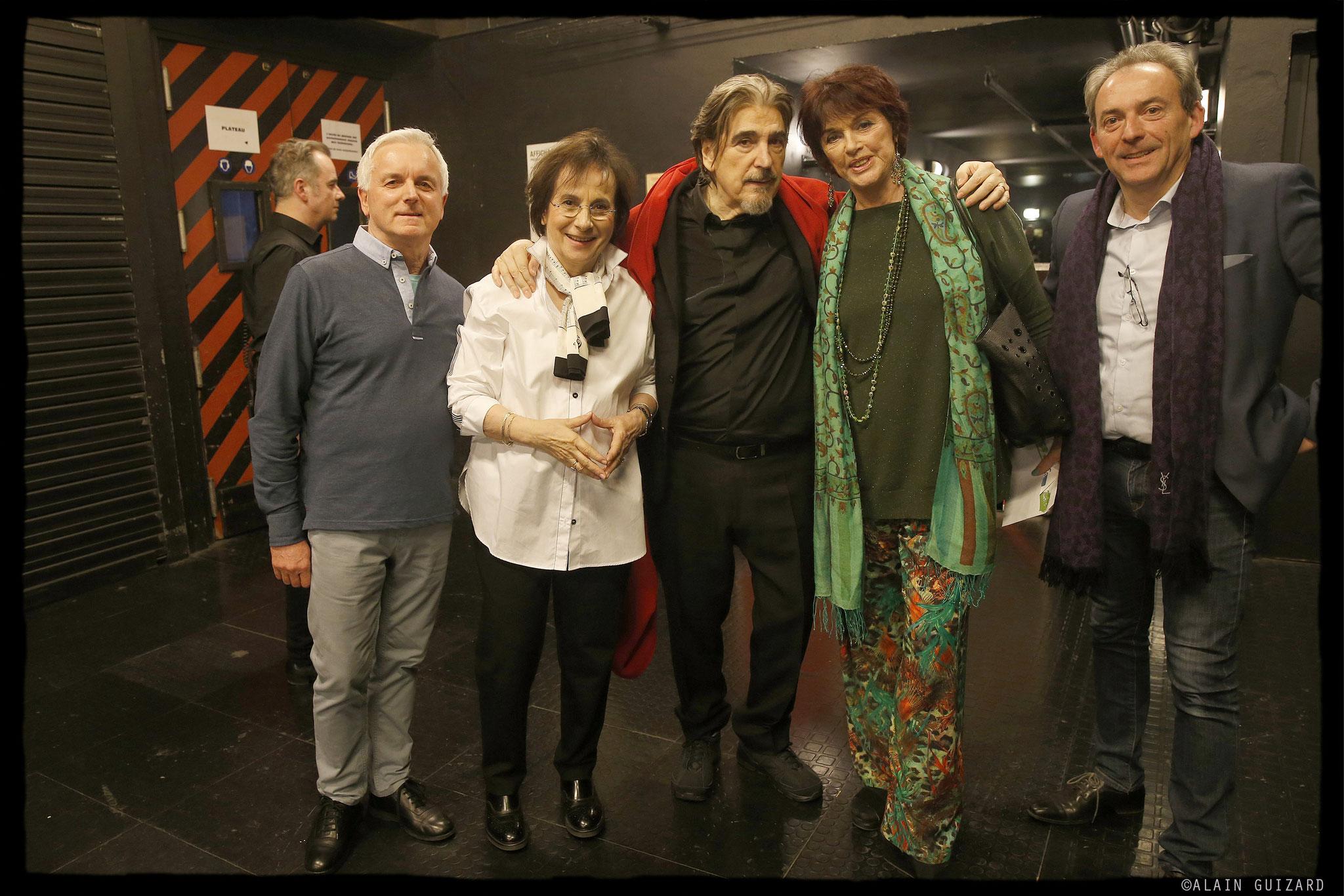 Michel Miletti, Marie Paule Belle, Serge Lama, Annie Duperey, Franck Cappilleri