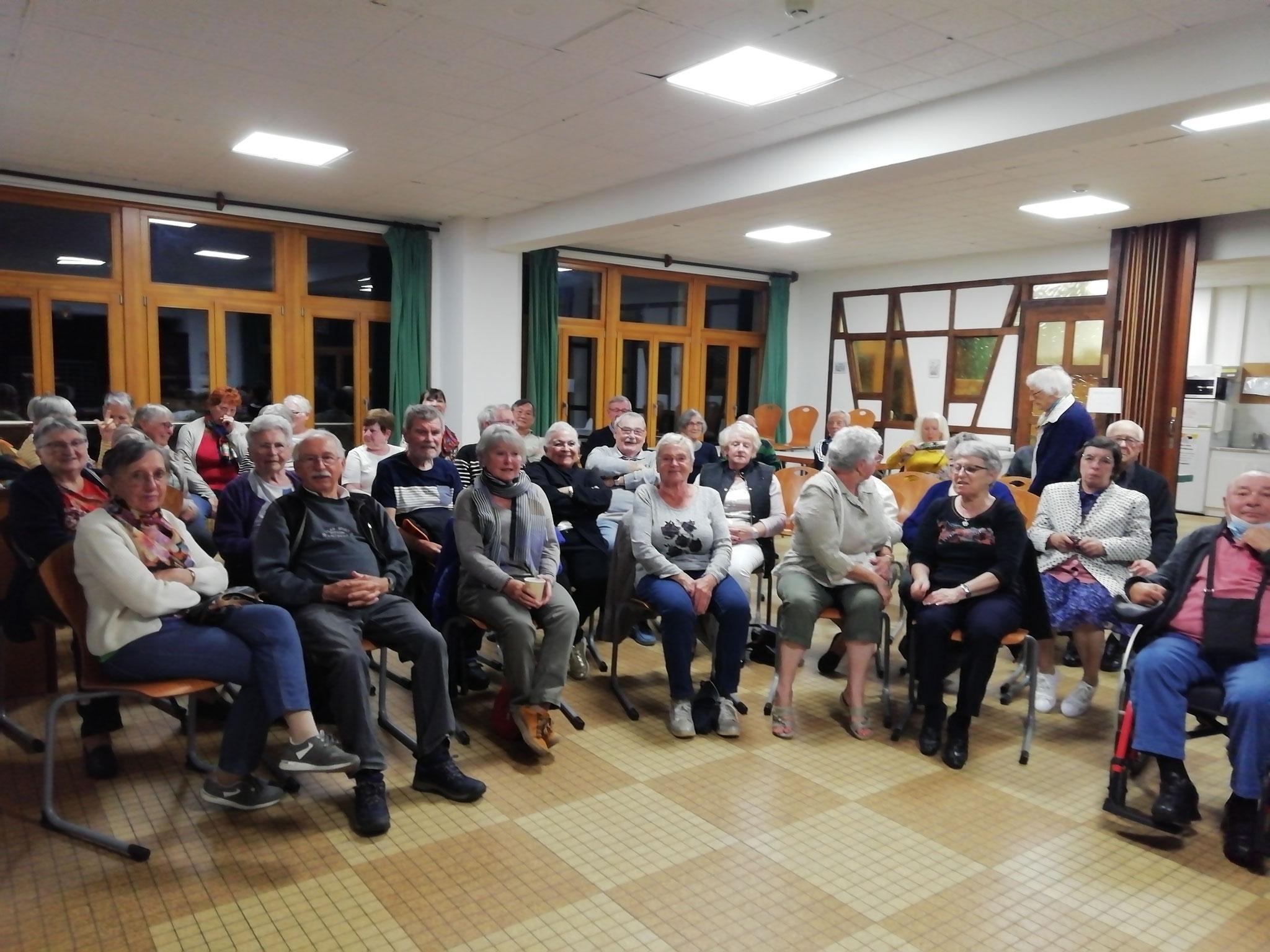 Storckensohn  le TORRENT 28092021 Un groupe de 50 seniors  Géniaux !! attentifs, plein d 'humour !