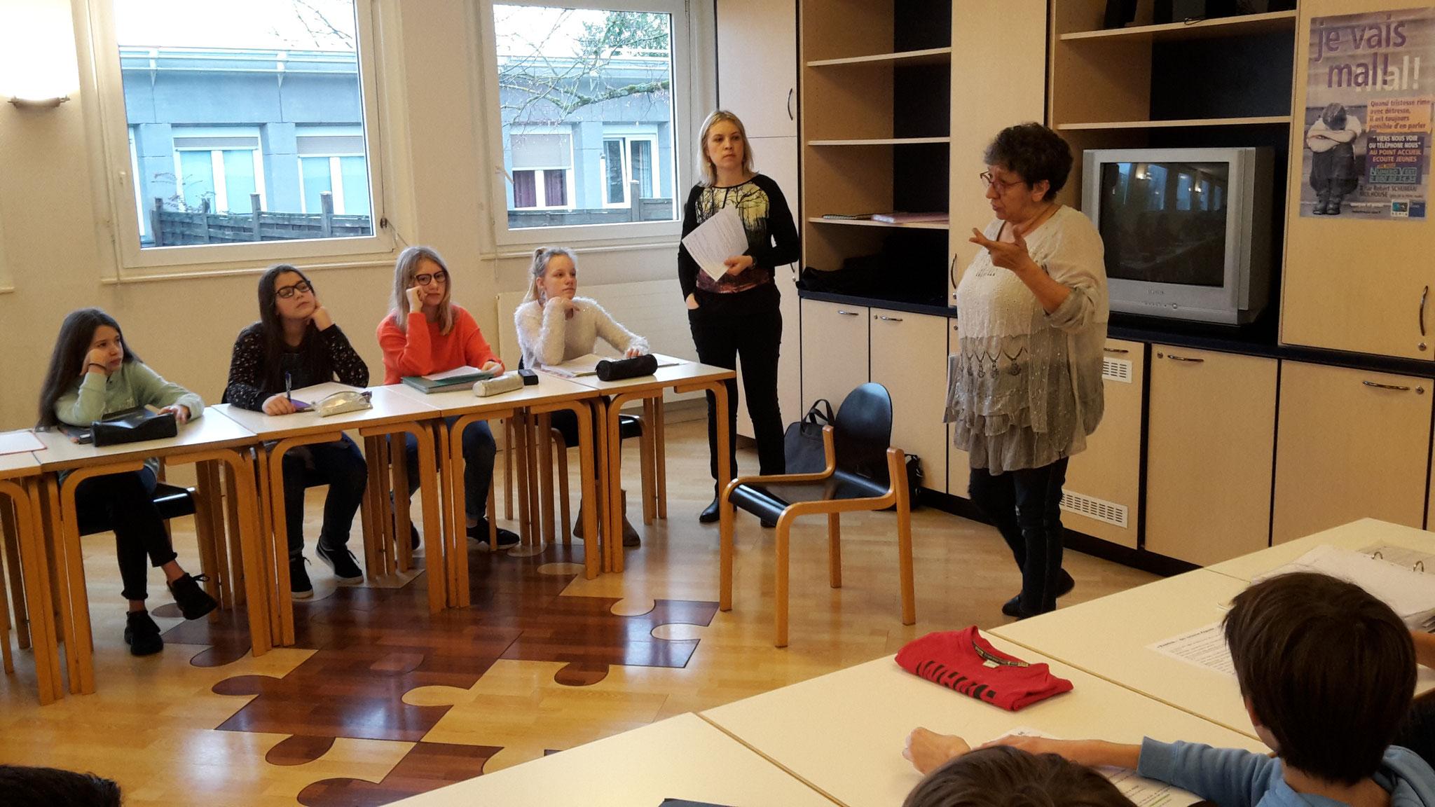 Intervention collège riedisheim préparation show littéraire