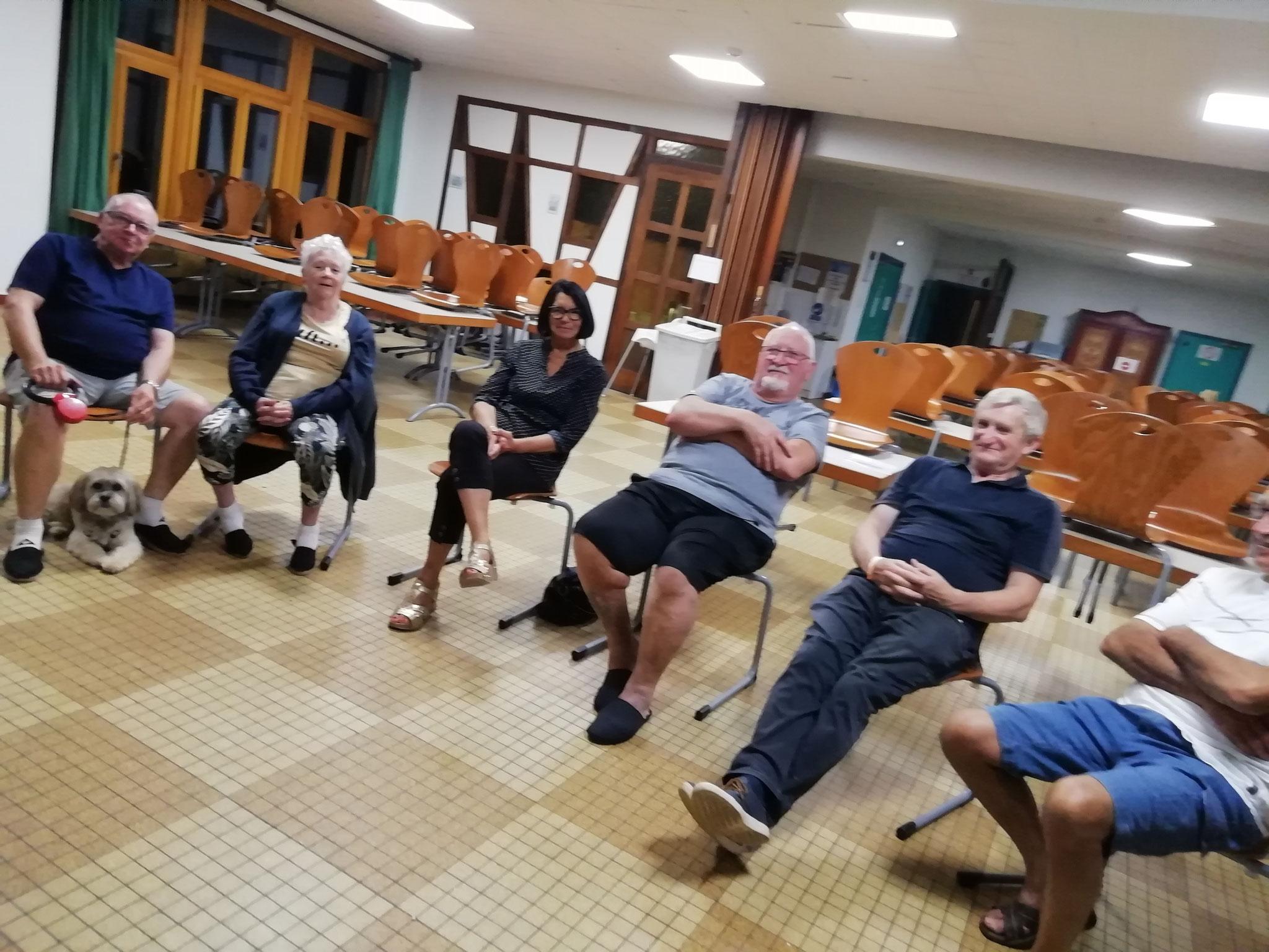 Petit groupe de seniors venant du Maine et de Moselle  au Torrent Storckensohn