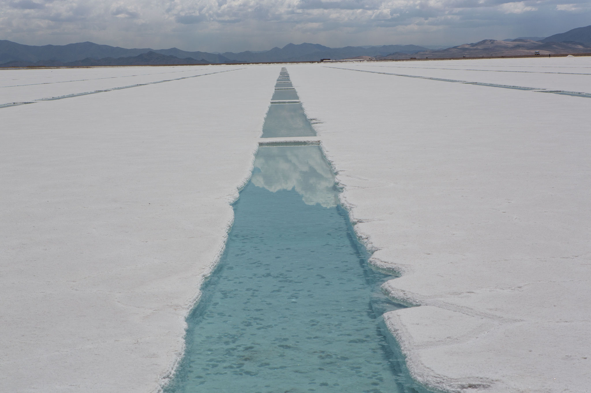 Salzgewinnung an den Salinas Grandes del Noroeste