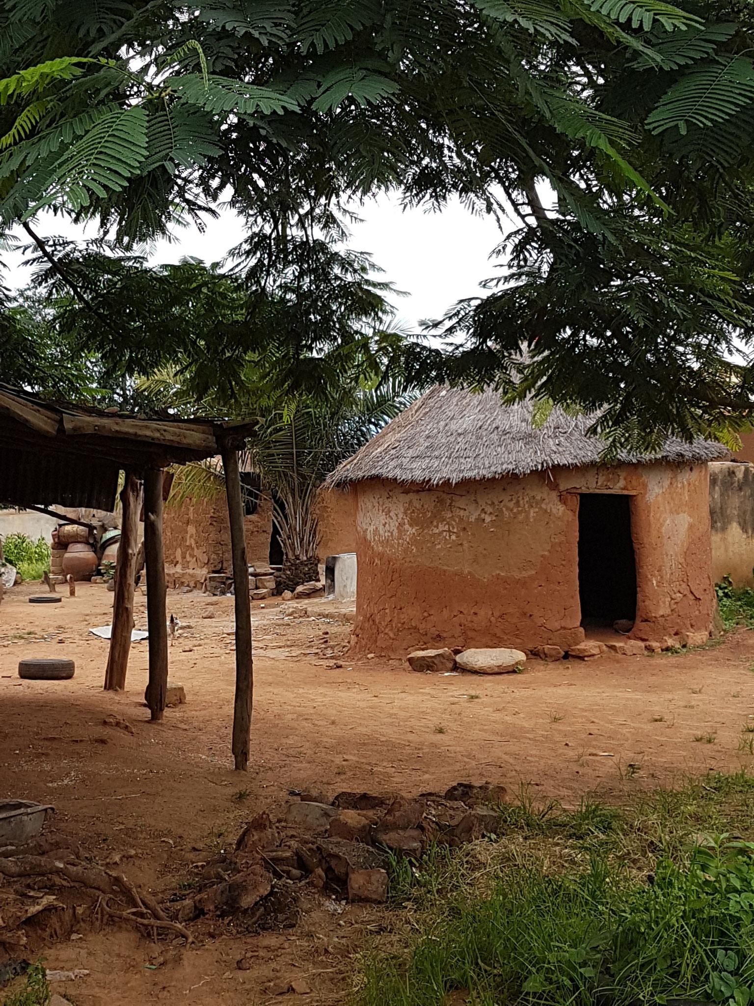 Cases dans un village