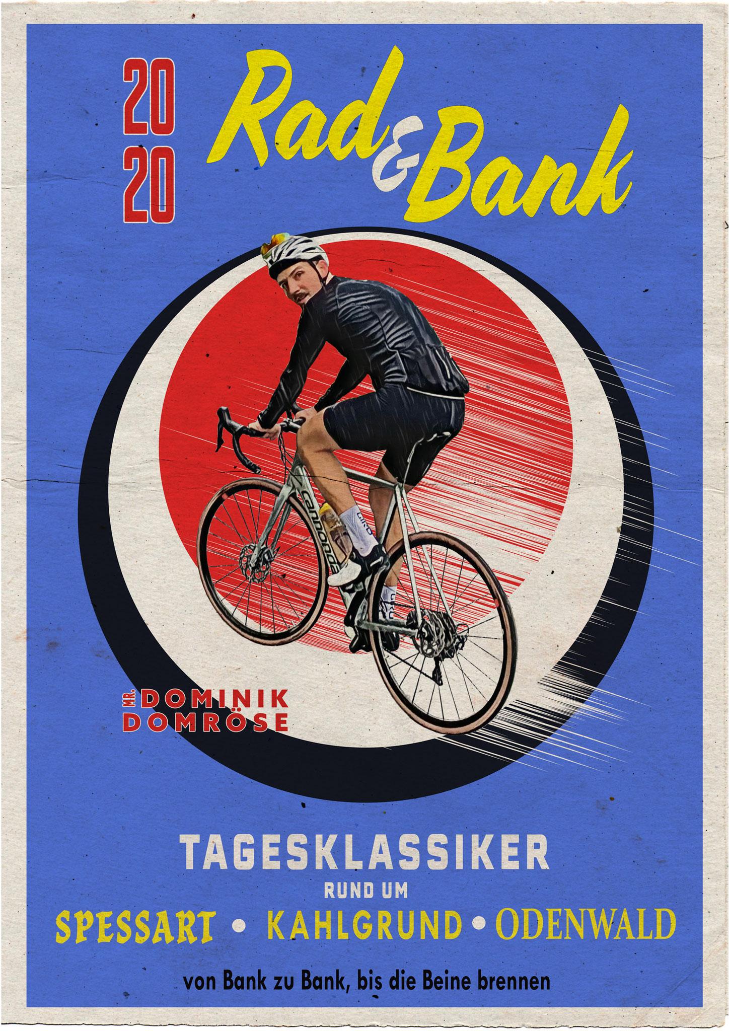 Retro Rennrad Poster, freies Projekt