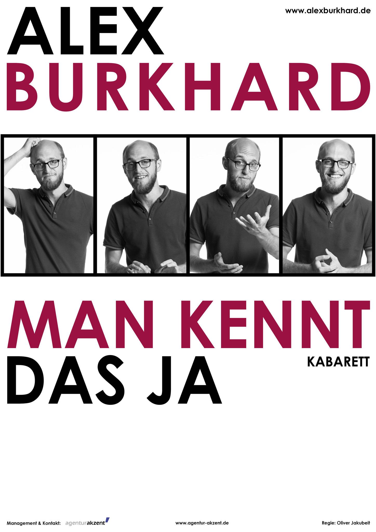 Plakat Kabarettprogramm Alex Bukhard