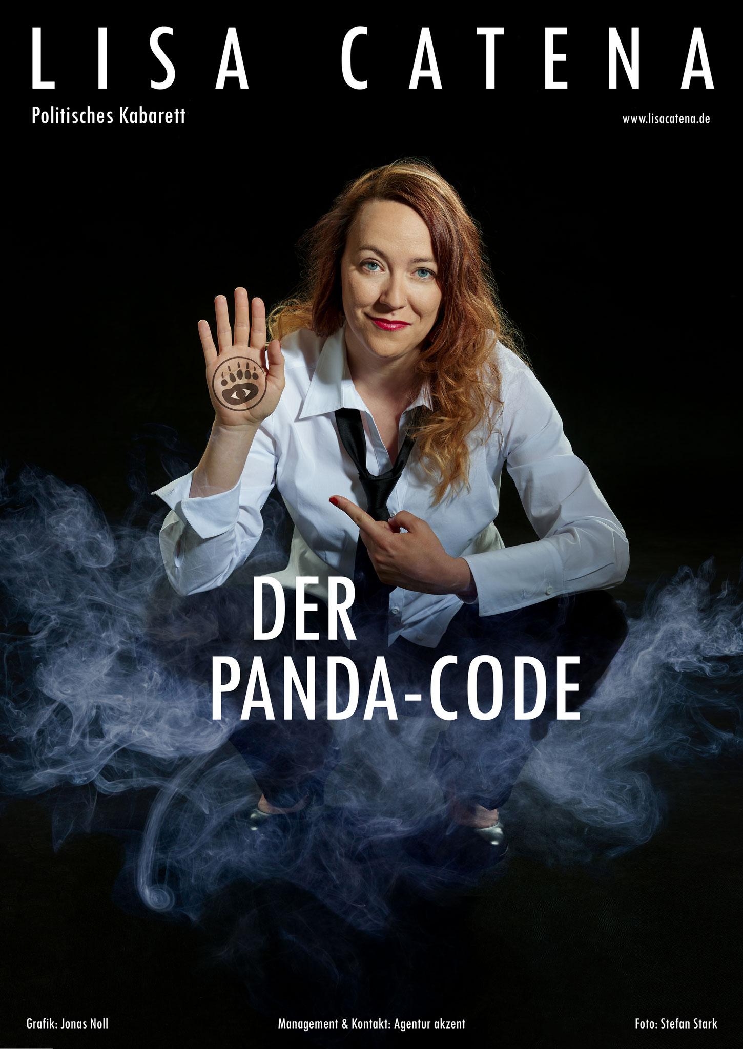 Plakat zum Kabarettprogramm von Lisa Catena. Herbst 2018