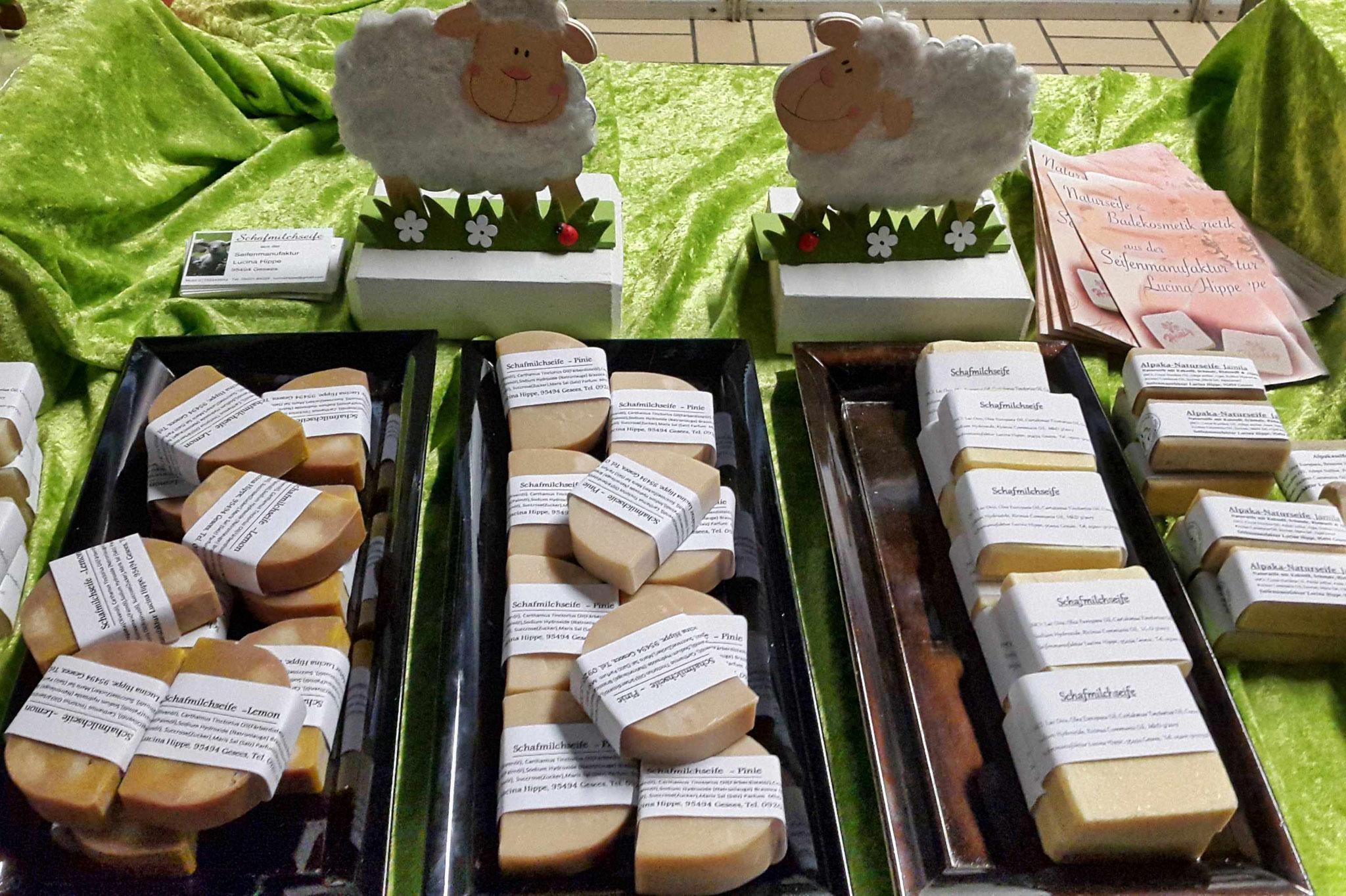 Frühlingsmarkt: Schafmilchseife