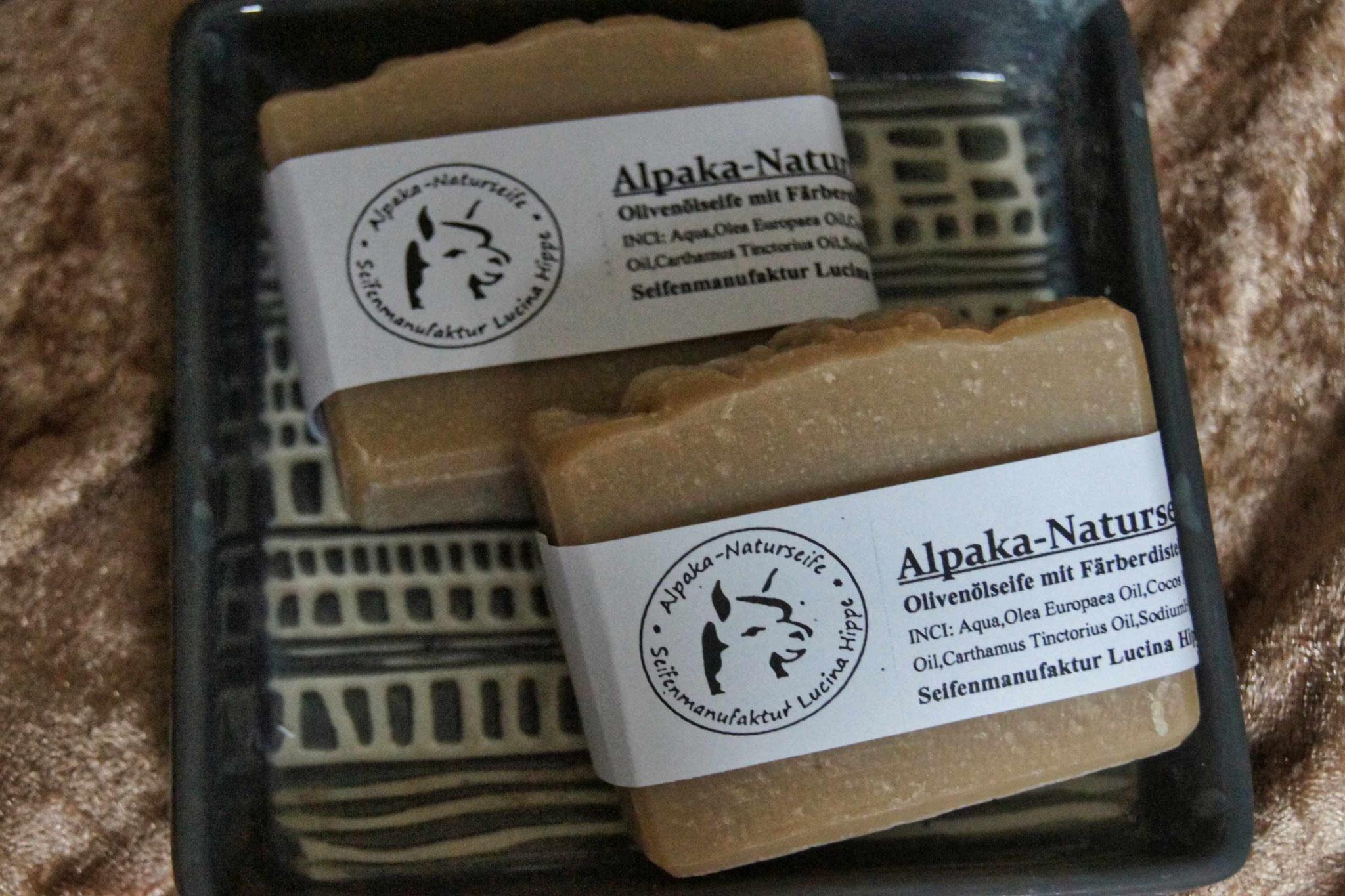 Alpaka-Naturseife mit Olivenöl