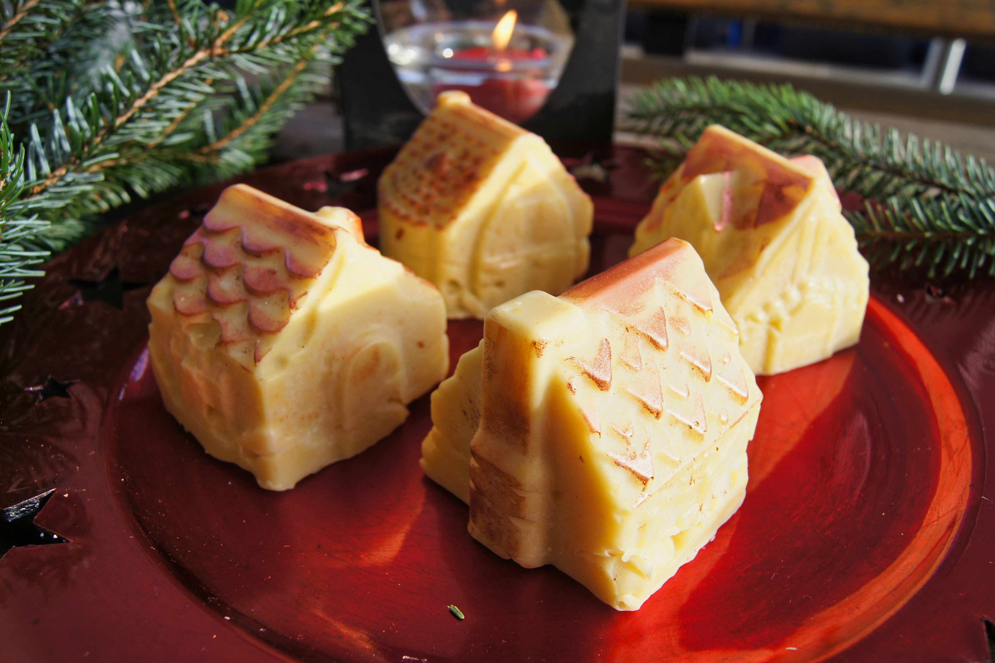 Weihnachtliche Orangen-Gewürz-Seife