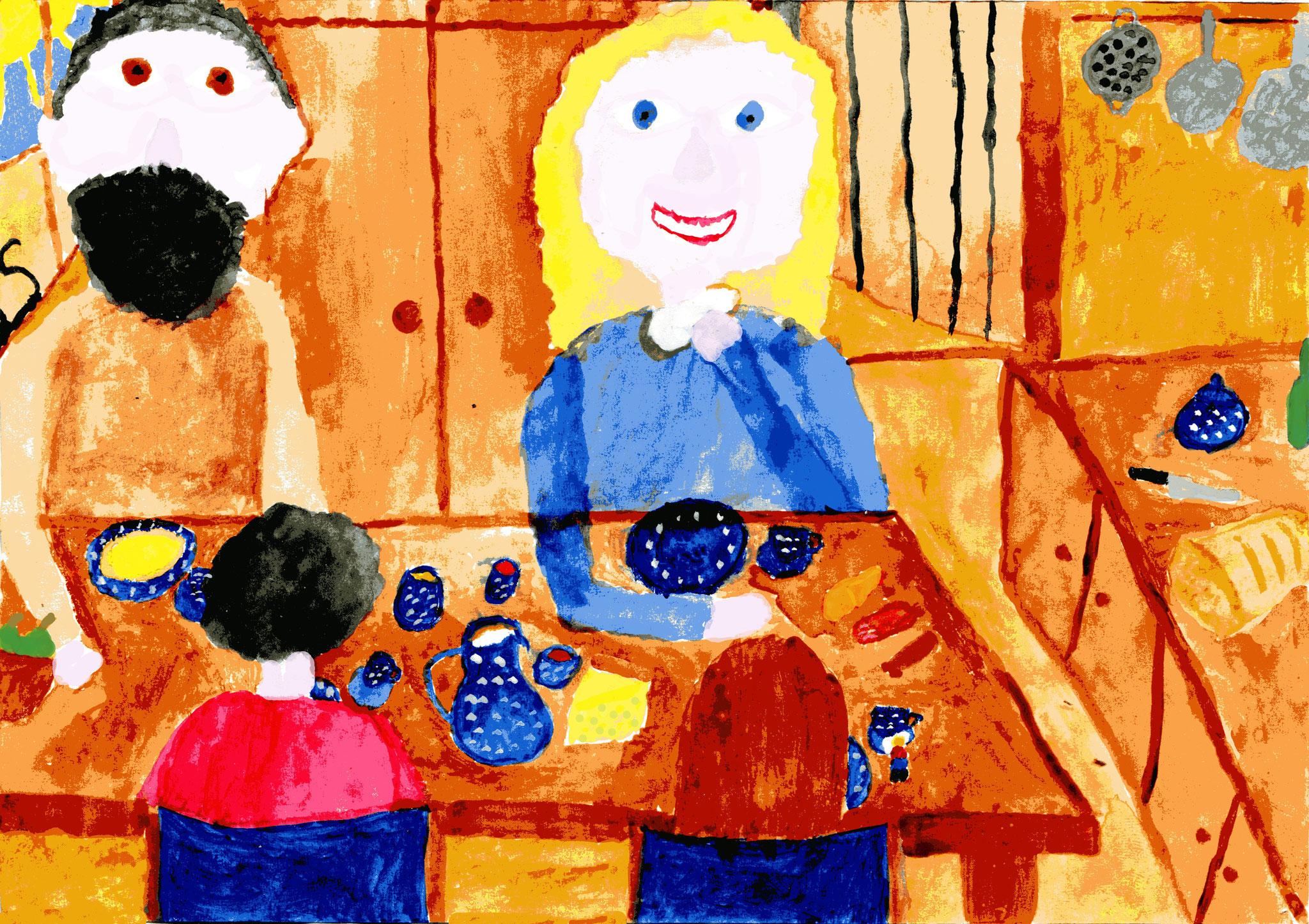 Mit Annas Familie beim Frühstück