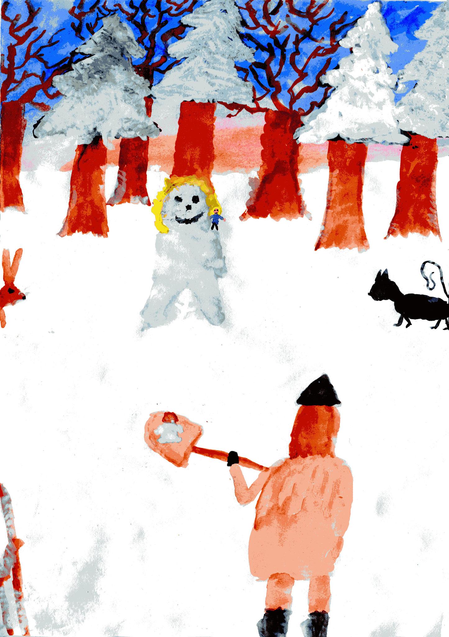 Schneebabu und Schneeanna