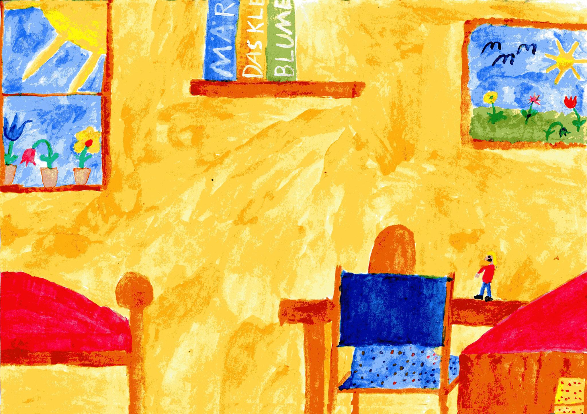 Anna malt ein Bild von Babu