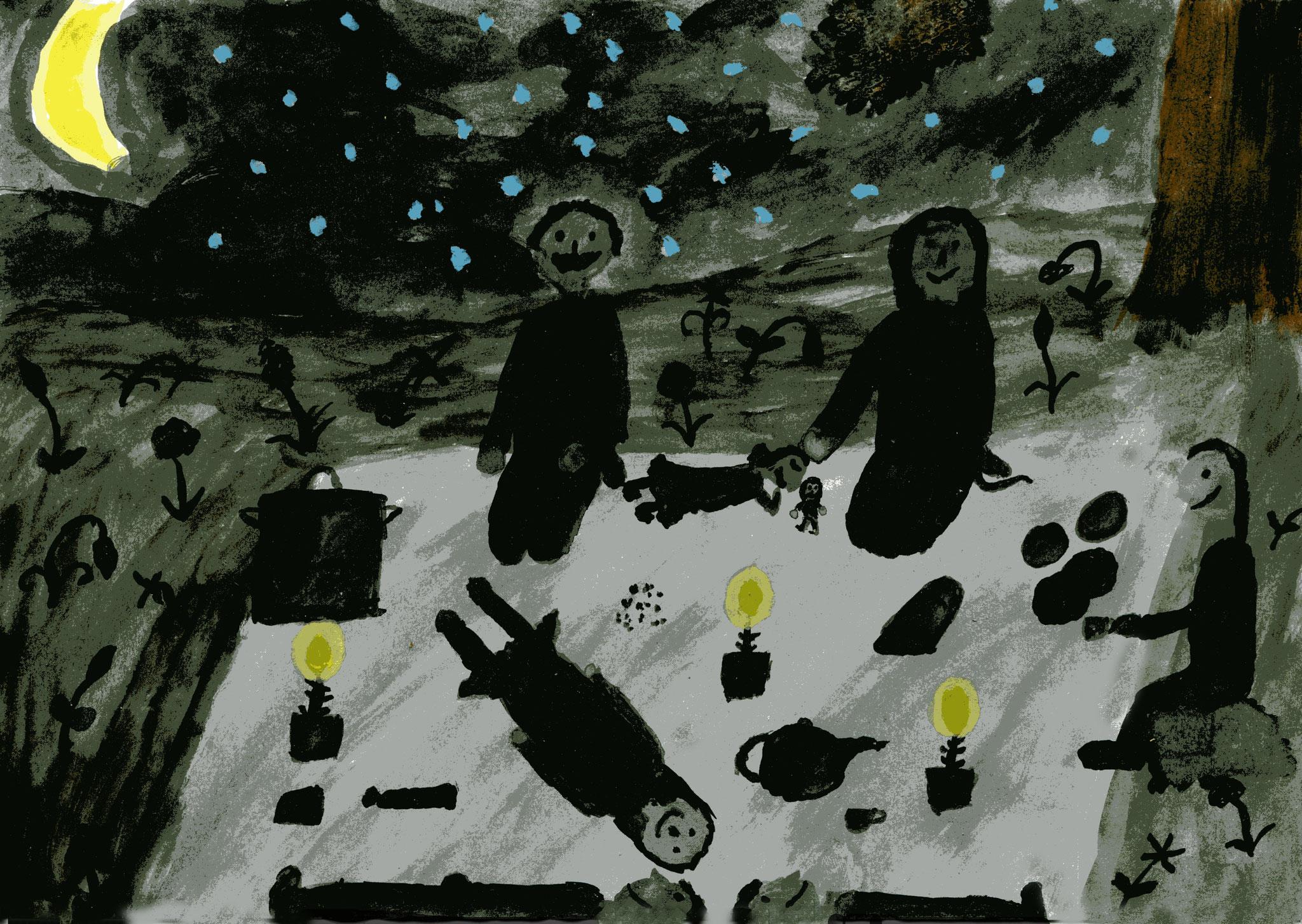 Picknick im Mondschein