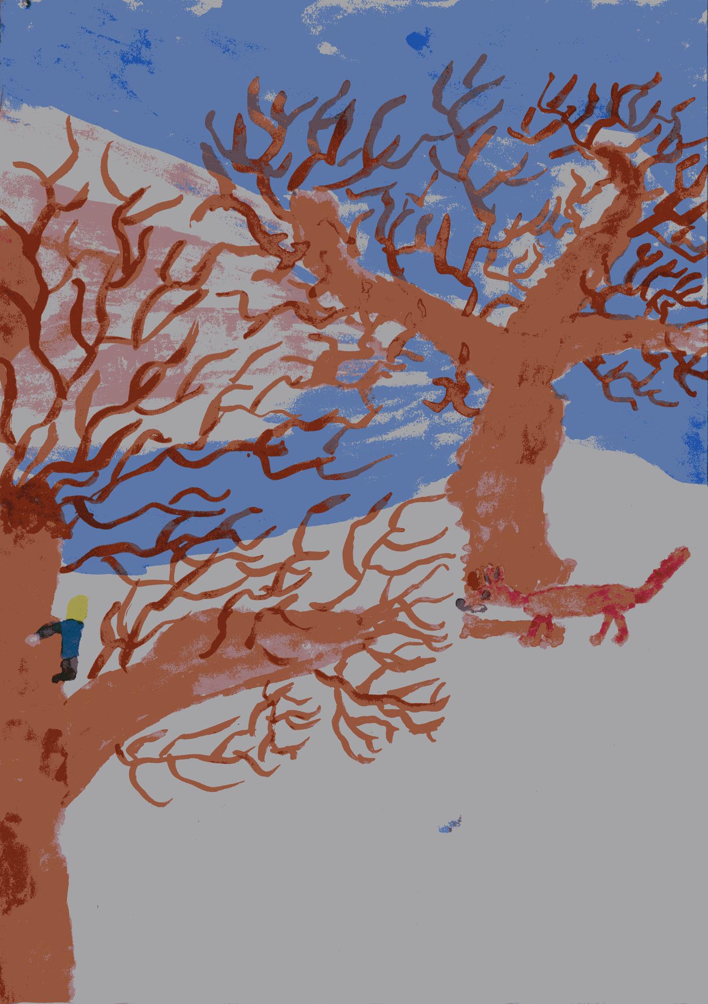 Ausflug auf den Apfelbaum