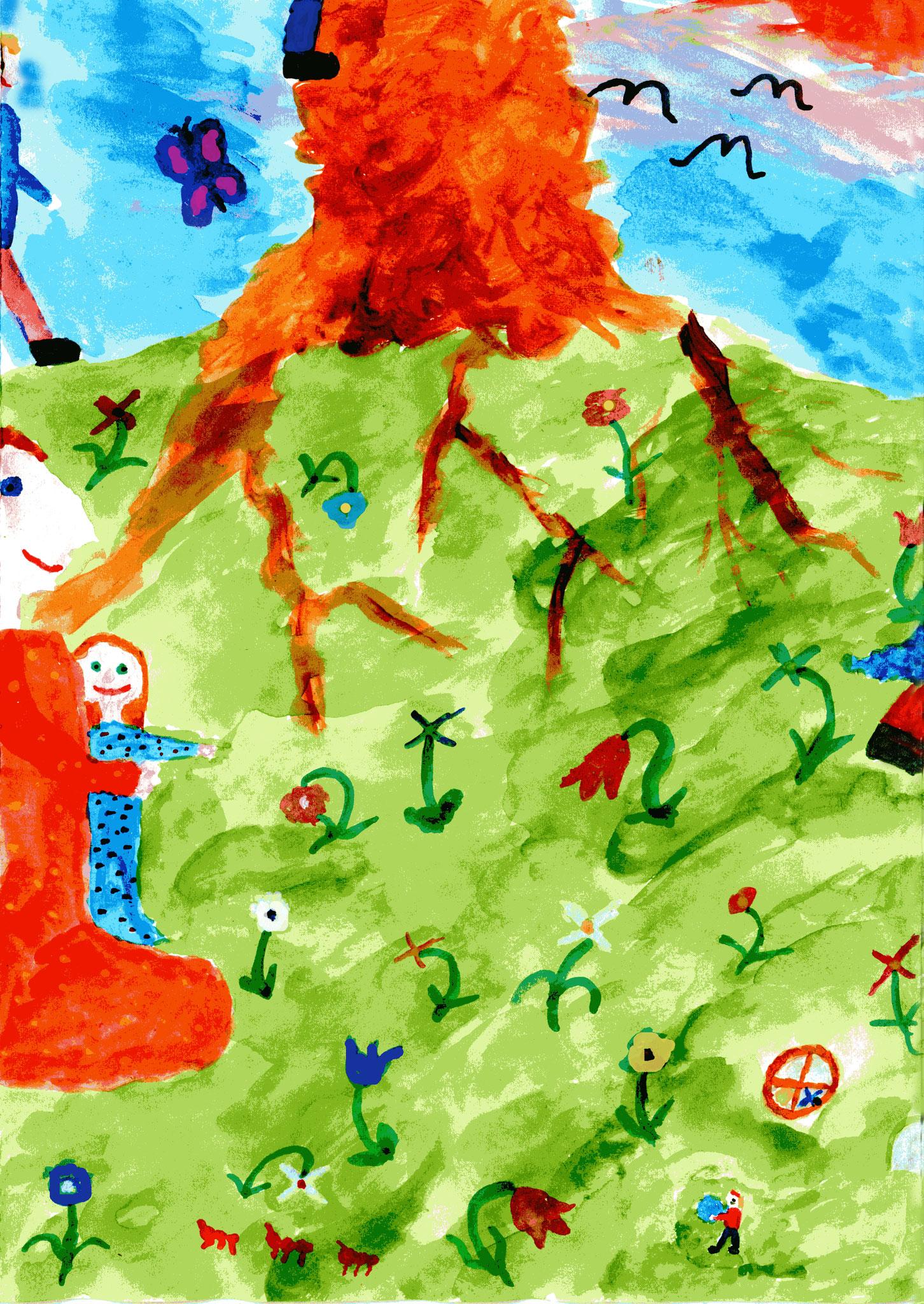 Mit Anna und den Kindern bei Babus Höhle