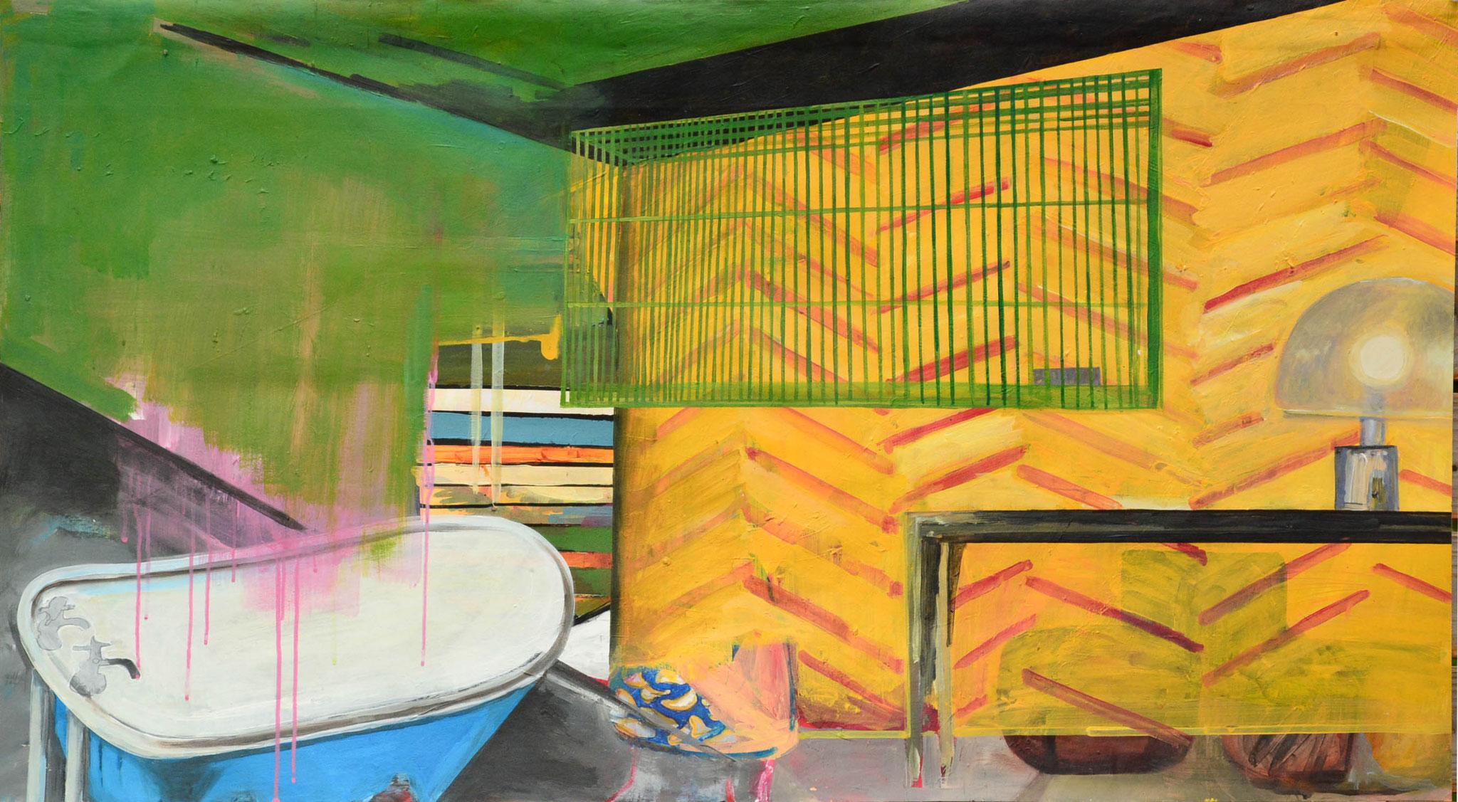 BATHROOM I  acryl auf vliestapete  I