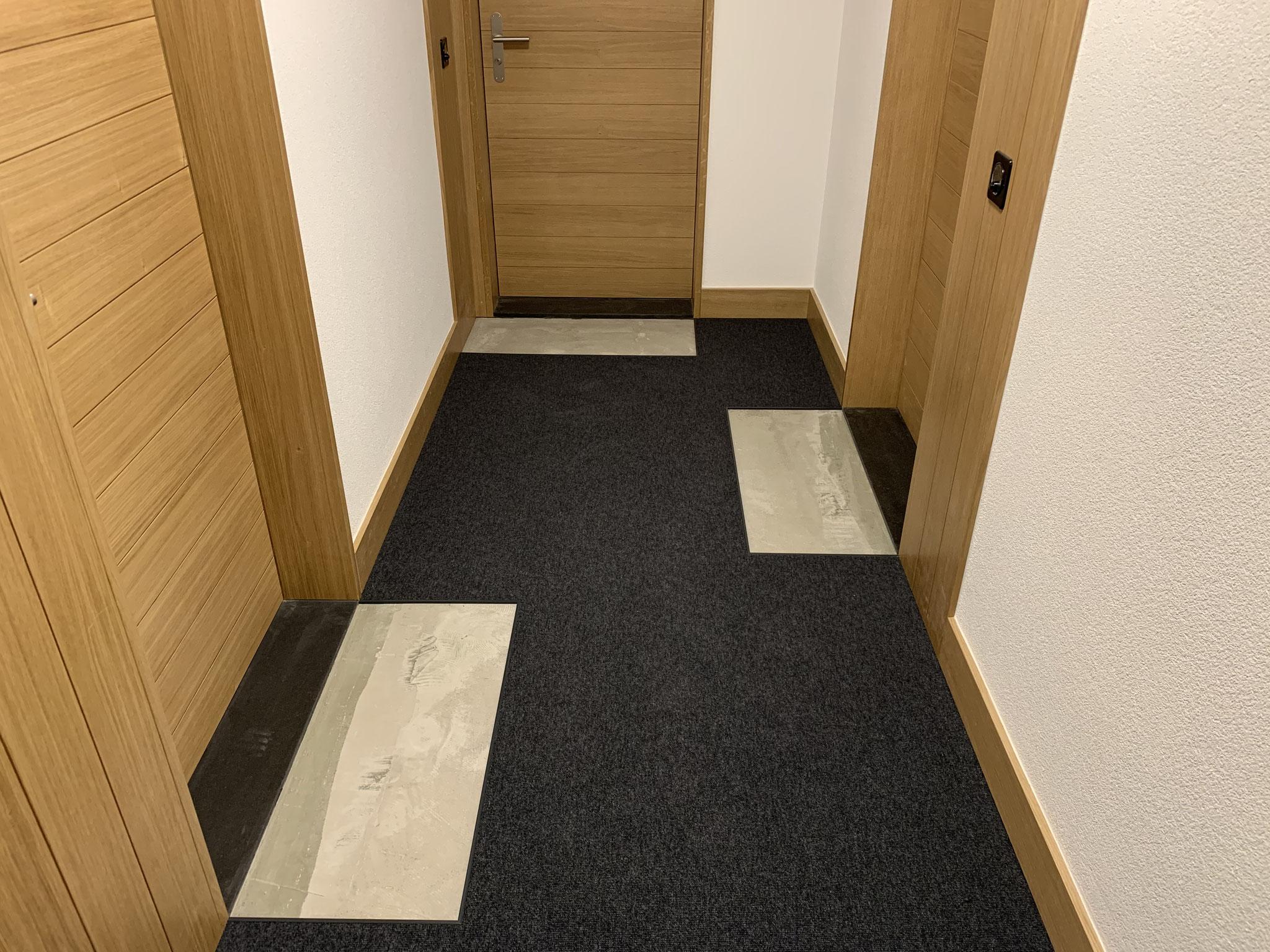 Teppichboden ohne Schmutzschleuse