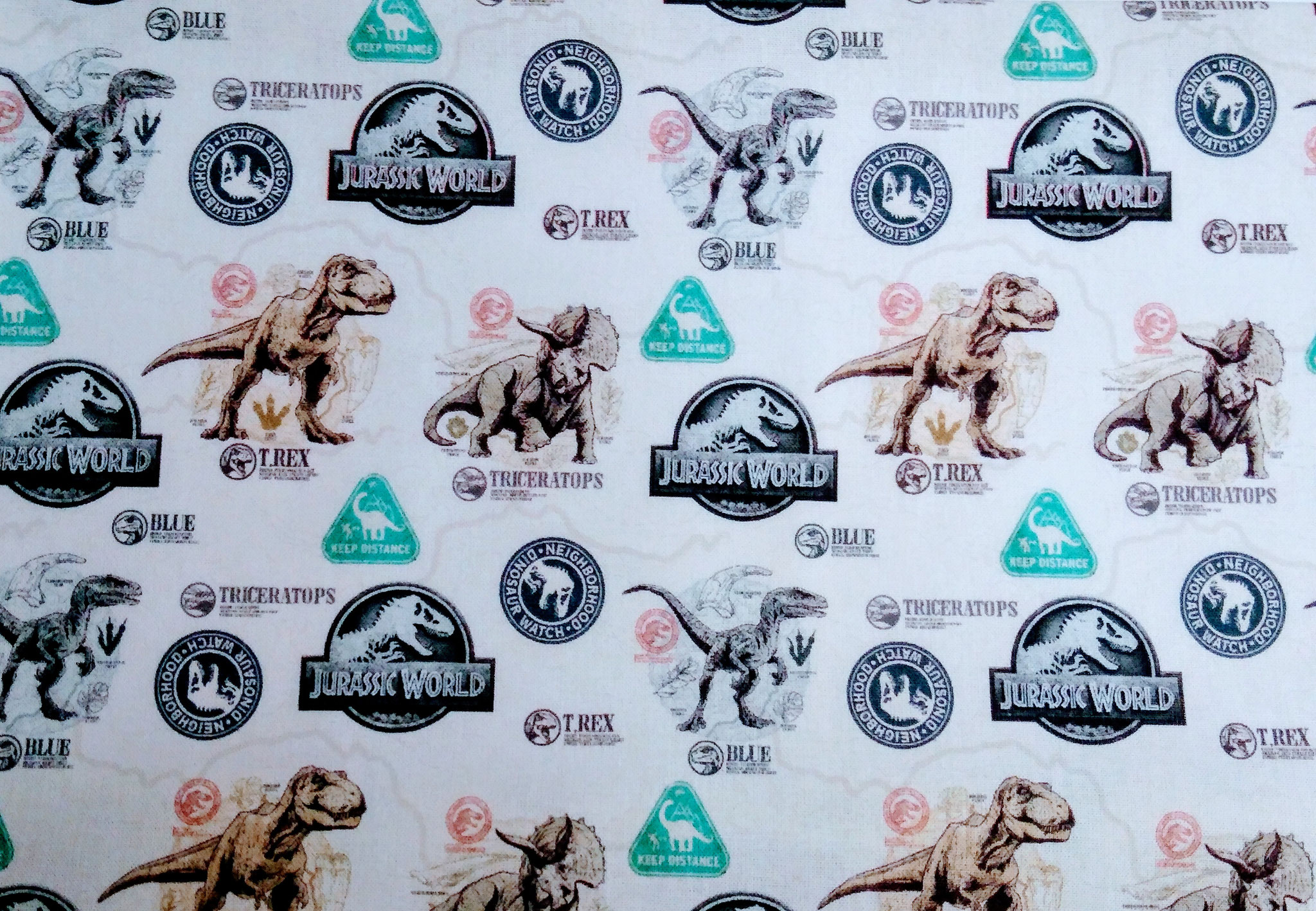 Baumwolle Dinos/ Dinosaurier/ Jurassic World/ T-Rex, 140cm breit, 0.5m 7.50€