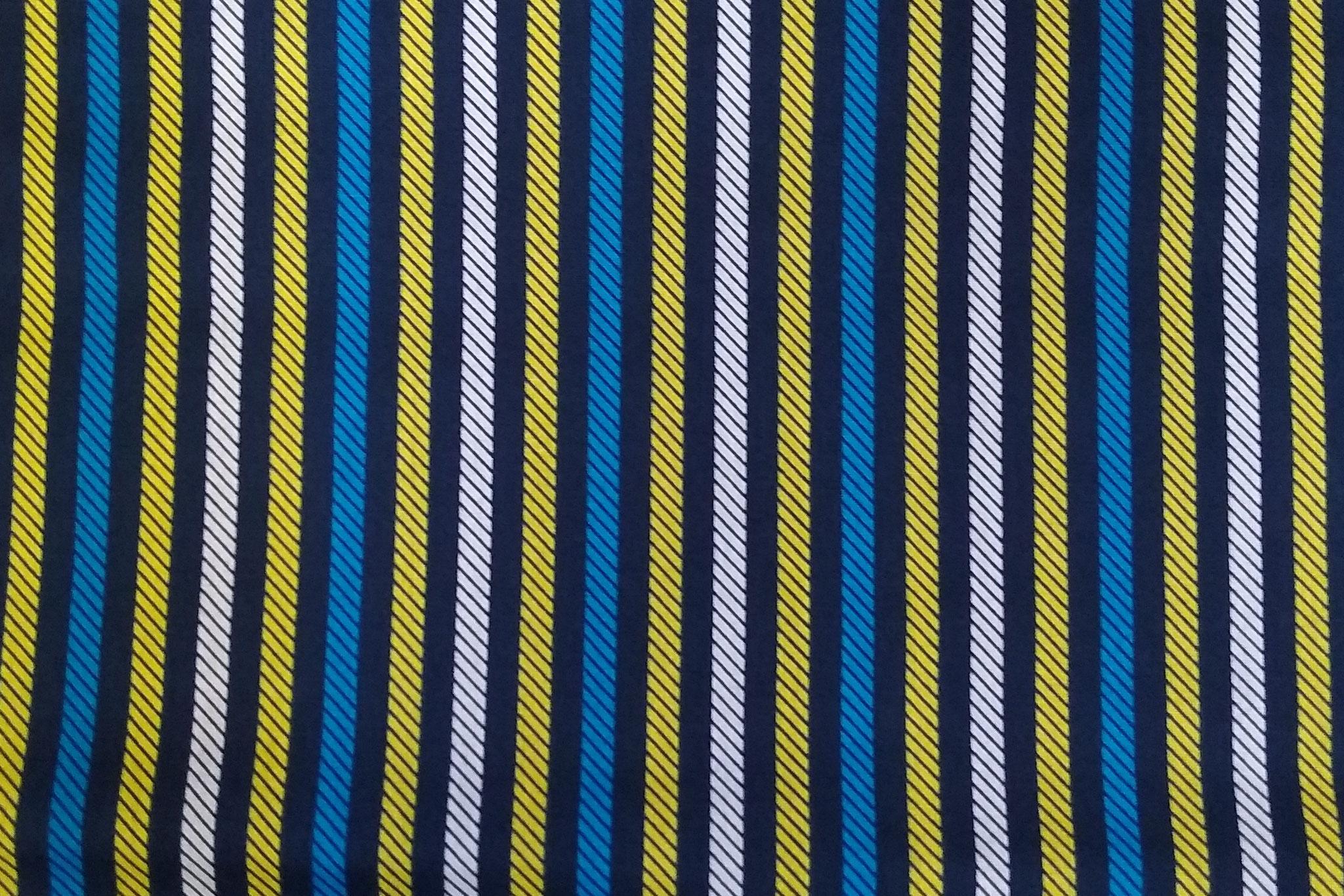 Baumwolle Streifen auf dunkelblau, 140 cm breit, 0.5m 5.50€