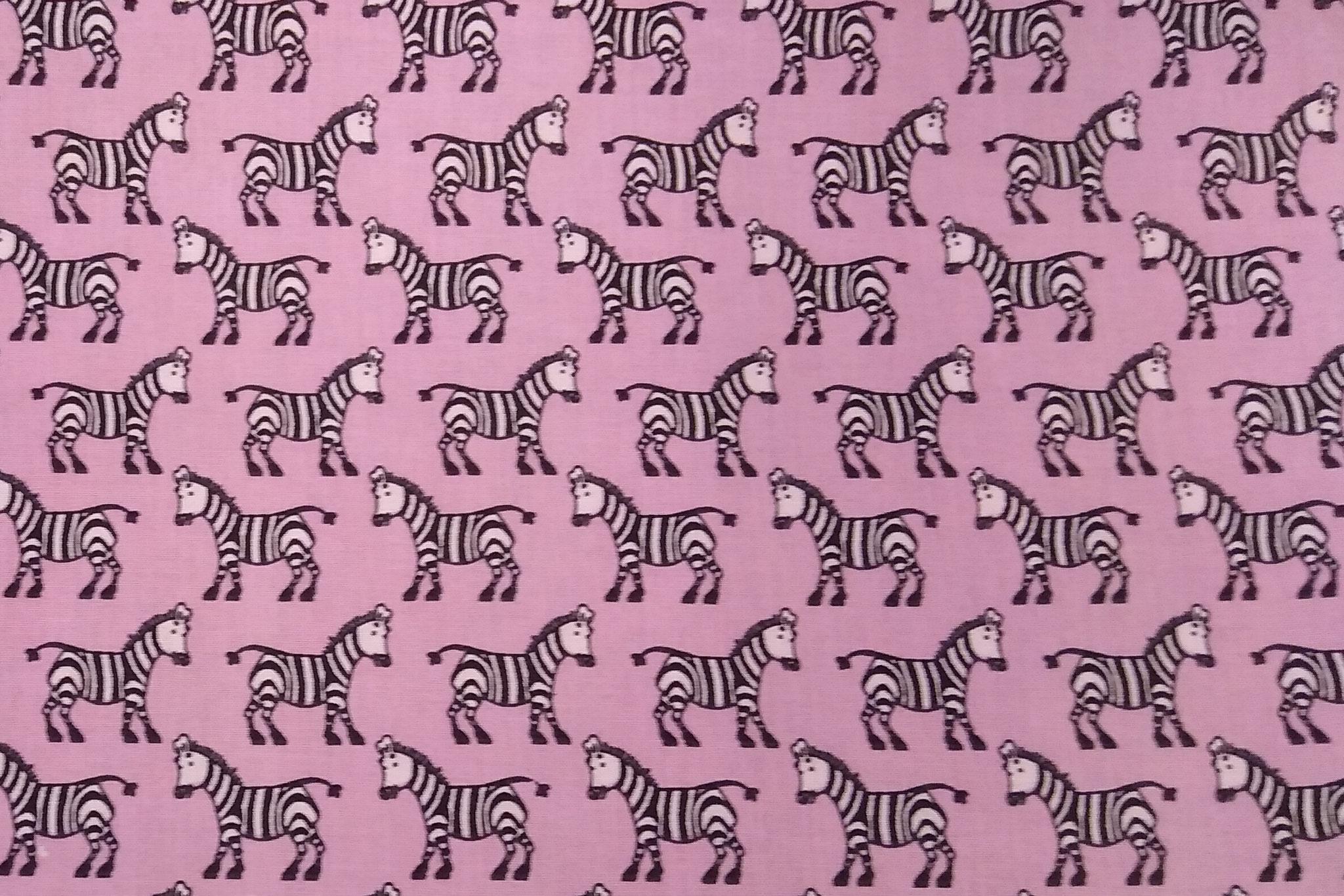 Baumwolle Zebras/ Tiere, 140cm breit, 0.5m 5.50€