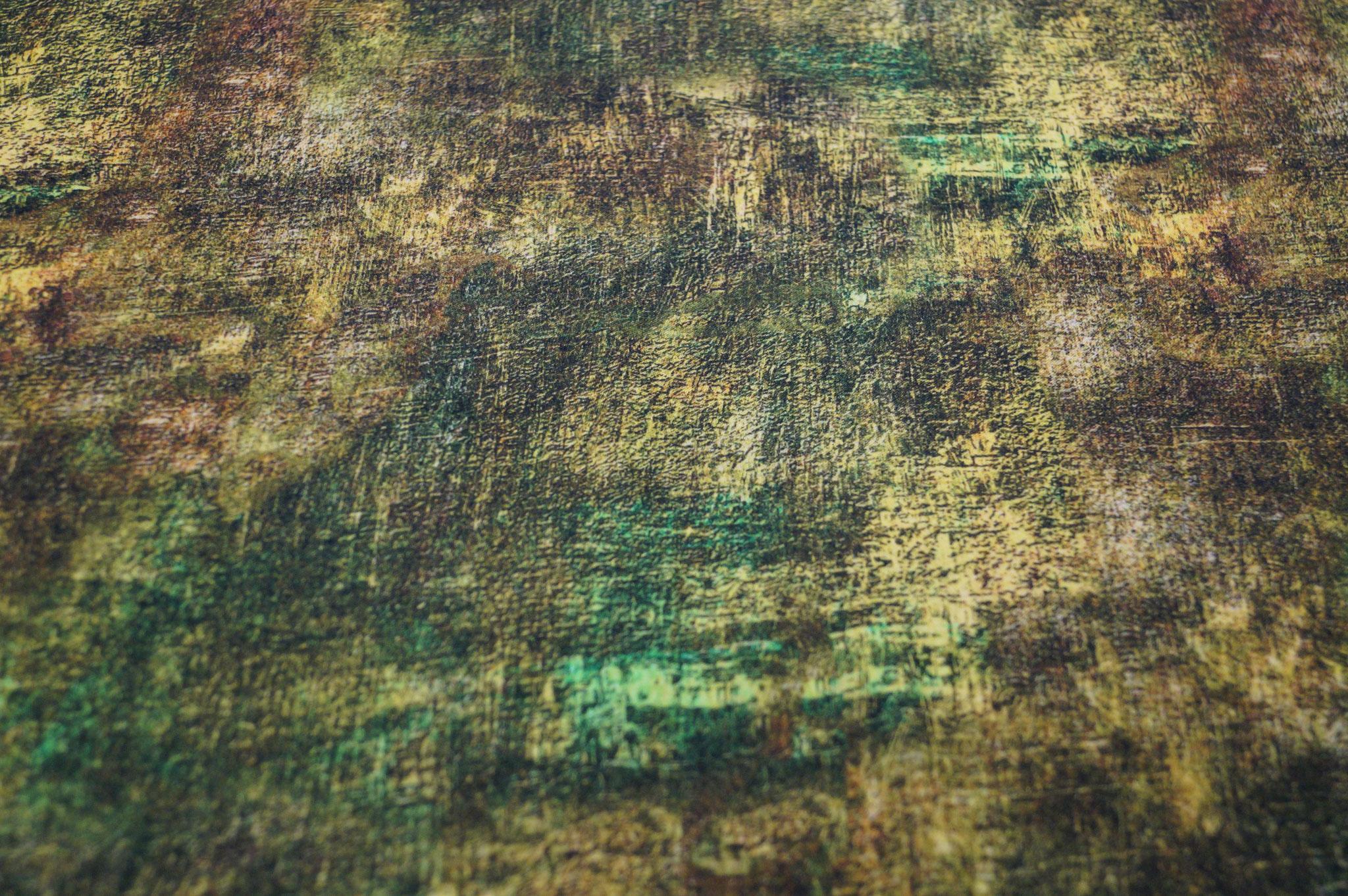 Viskose Webware grün meliert, 140cm breit, 0.5m 7.50€