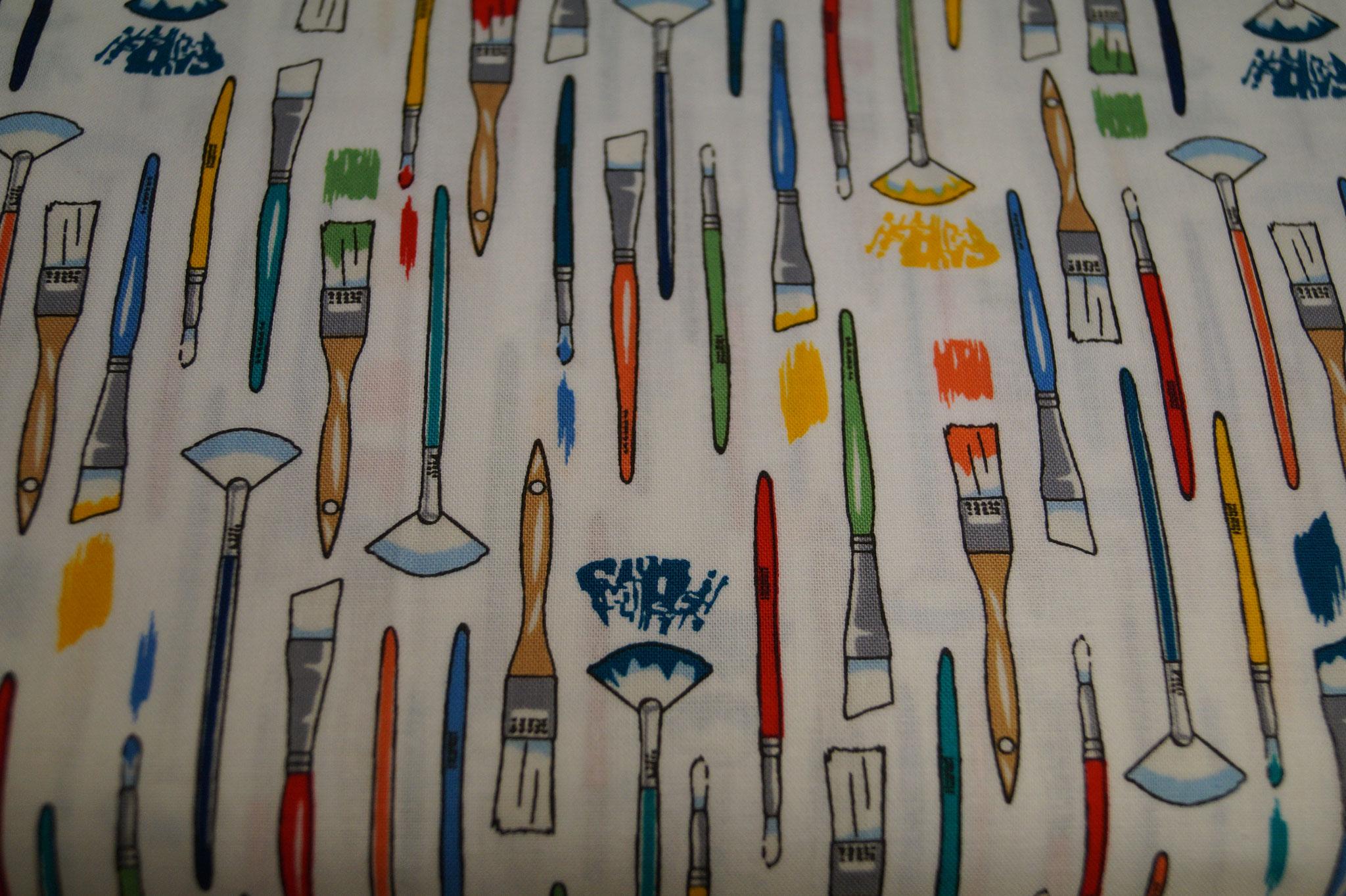 Baumwolle Pinsel/ Schule/ Malen/ Zeichnen/ Kunst, 110cm breit, 0.5m 10.00€