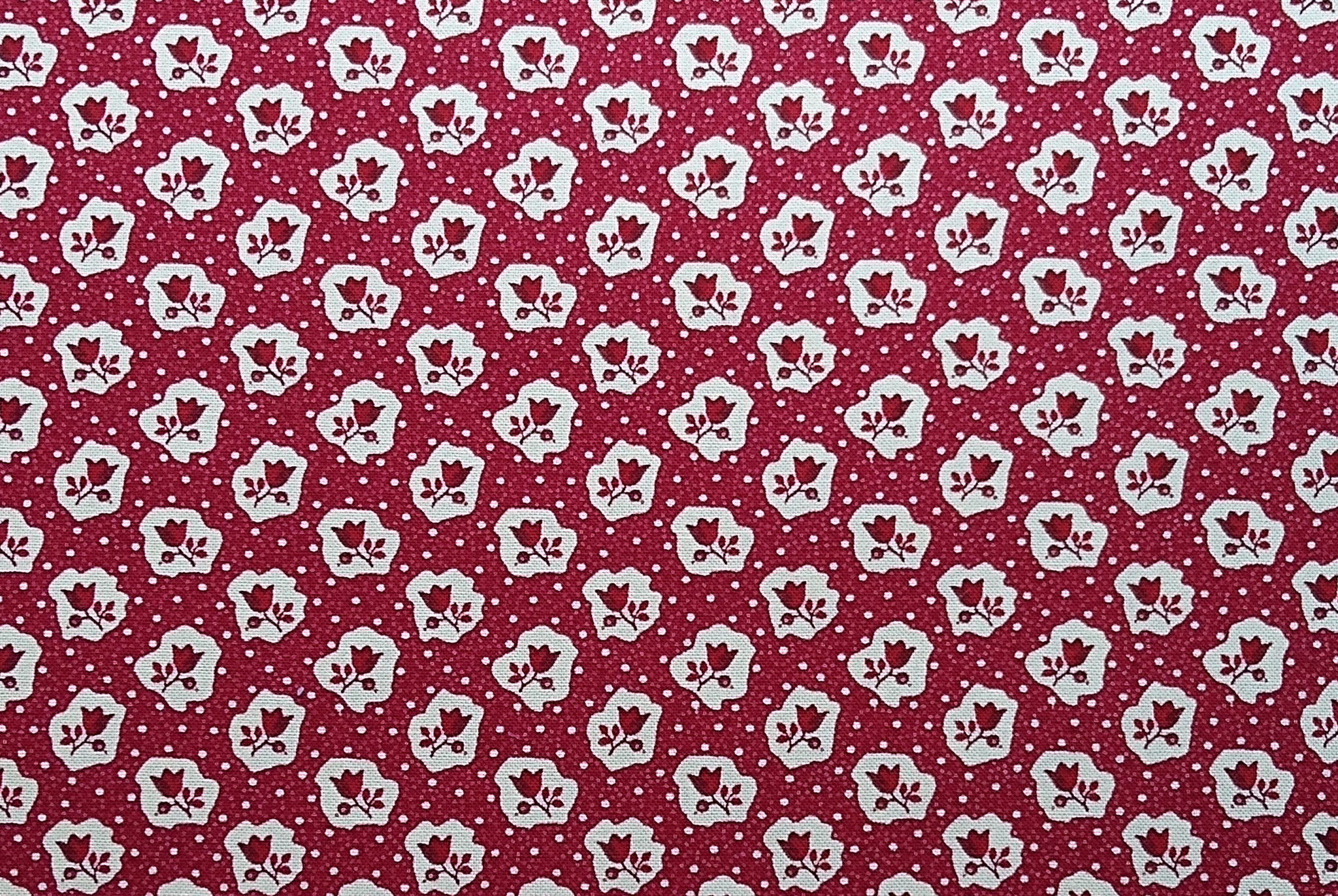 Baumwolle Blumen/ Trachtenblümchen, 110cm breit, 0.5m 10.50€