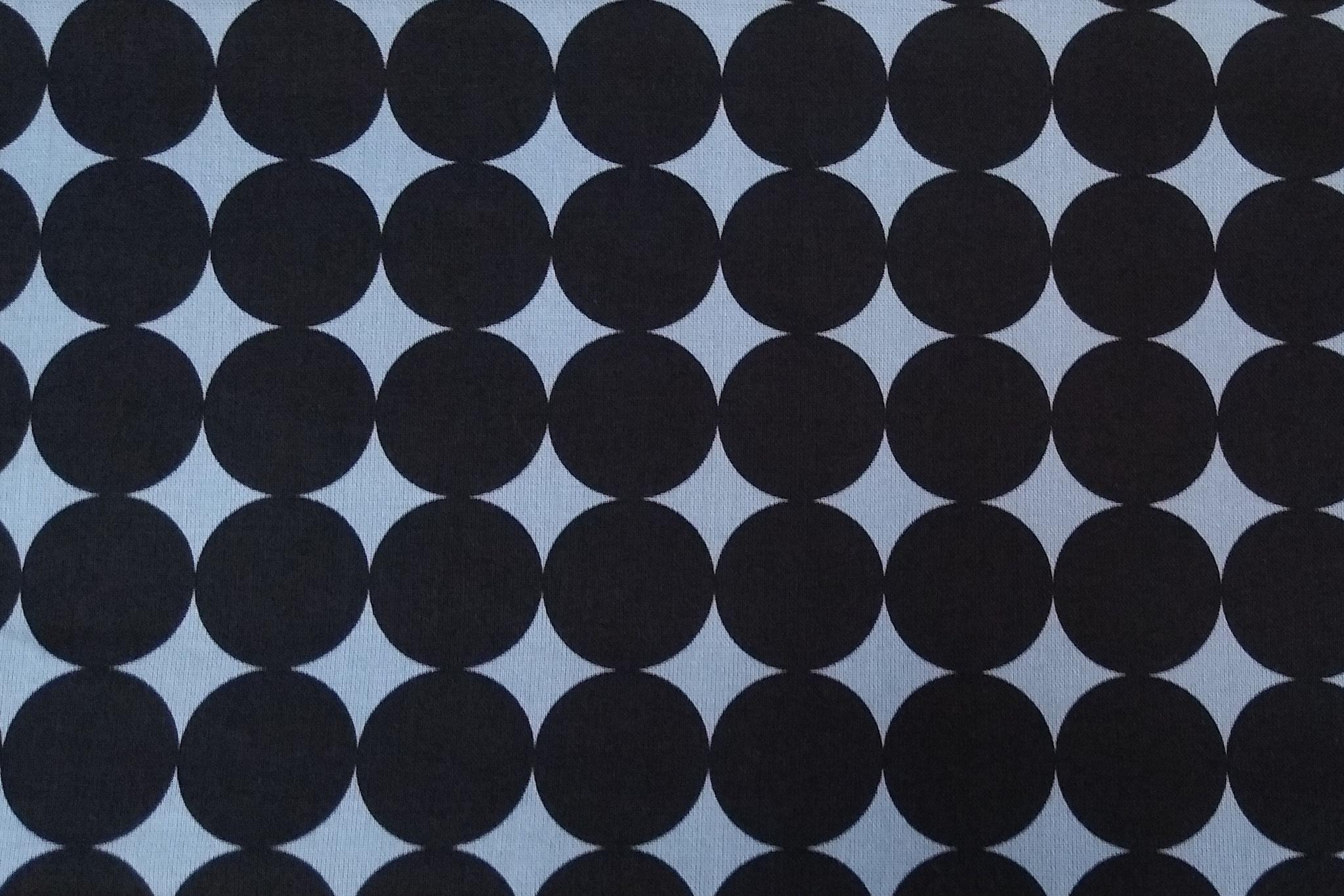 Baumwolle Punkte/ Dots, schwarz/grau, 110cm breit, 0.5m 10.50€