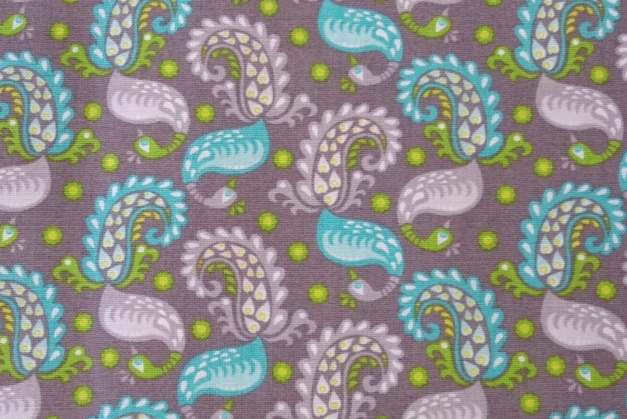 Baumwolle Paisley, grau, 110cm breit, 0.5m 8.50€