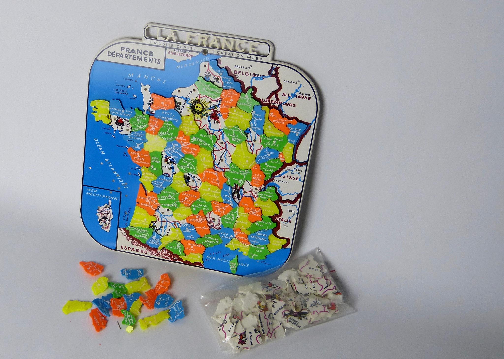 Departementenkaart Frankrijk