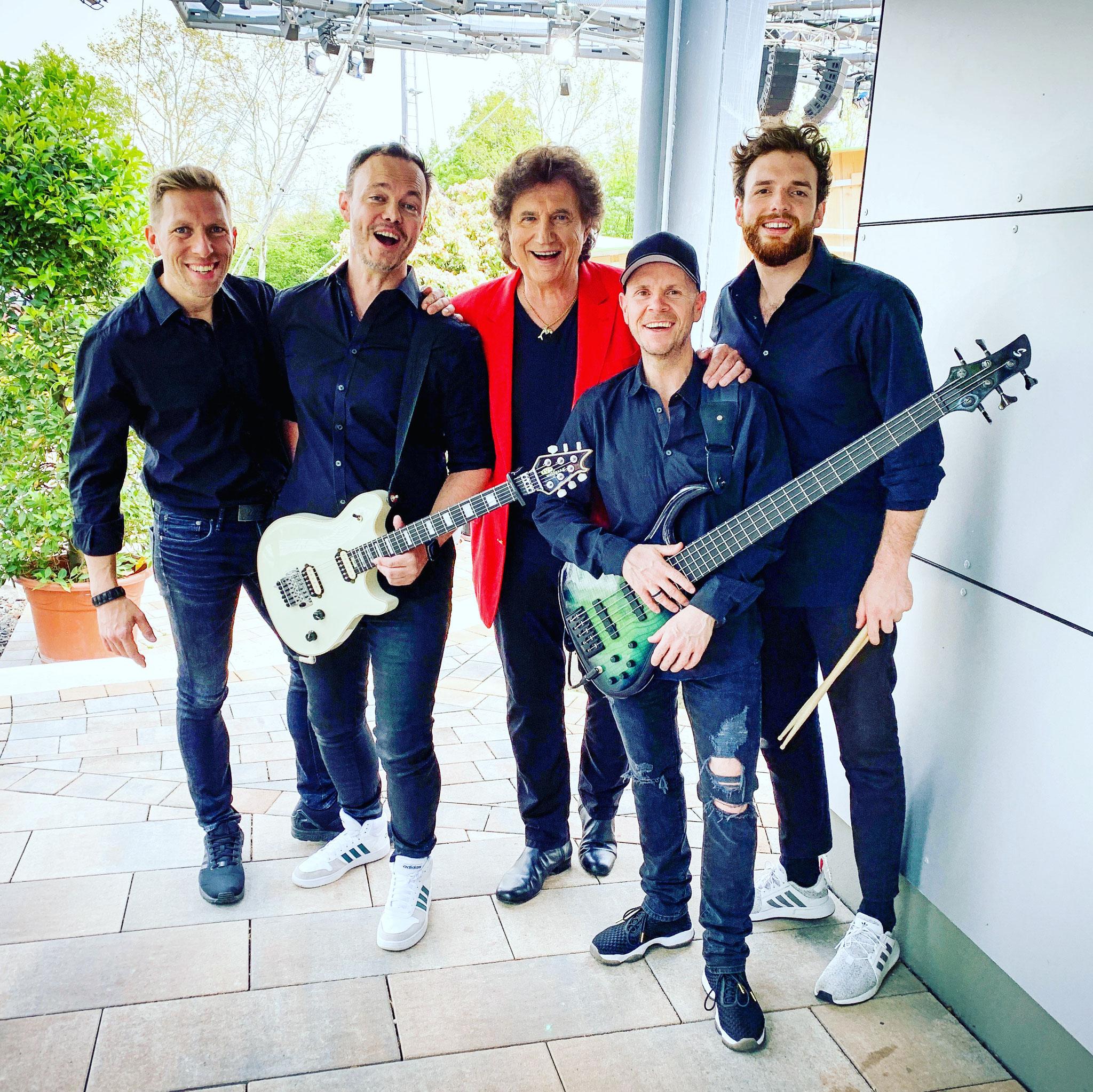 Damian mit Band - Olaf der Flipper beim ZDF Fernsehgarten