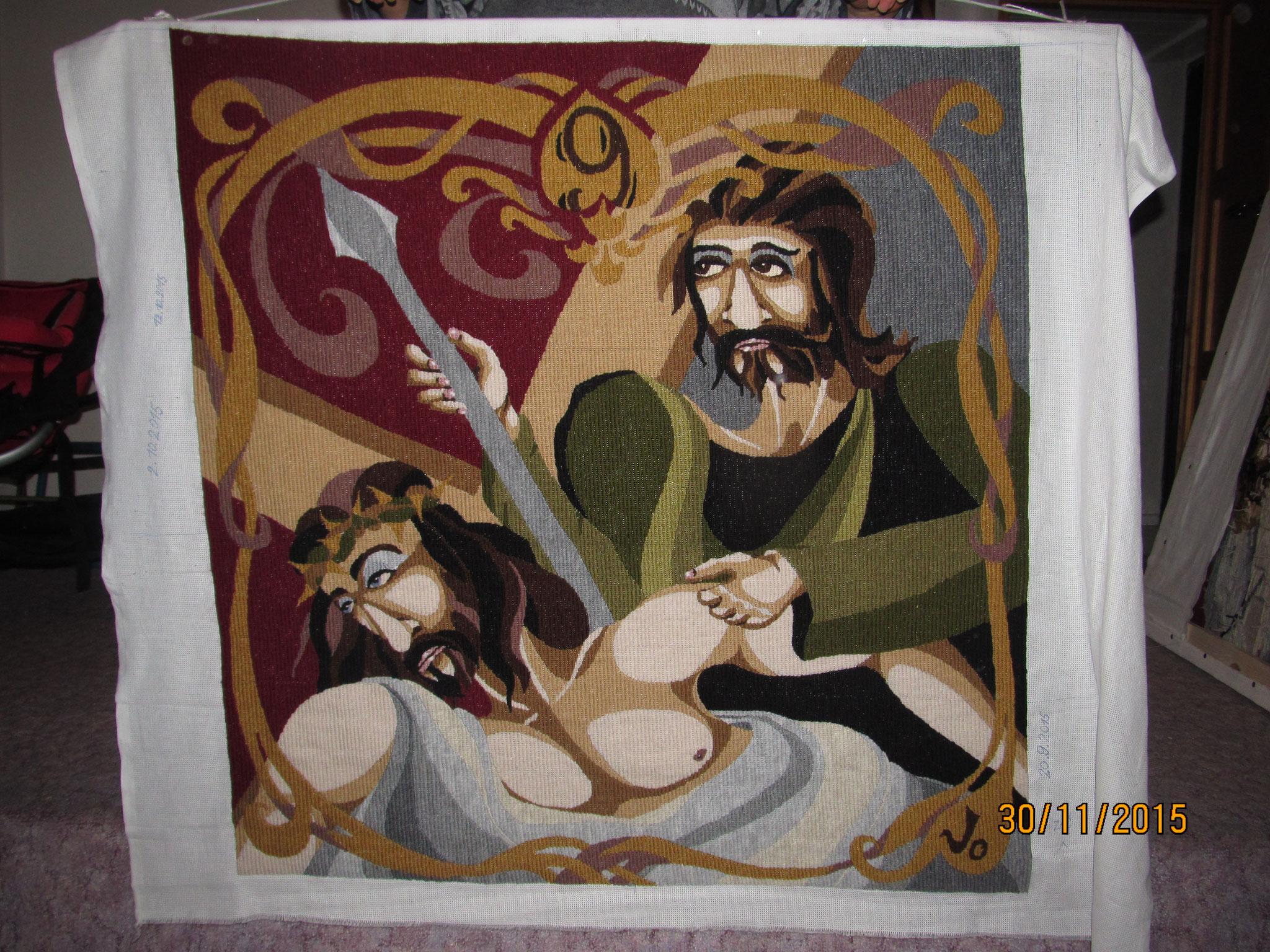 IX. Padá pod křížem