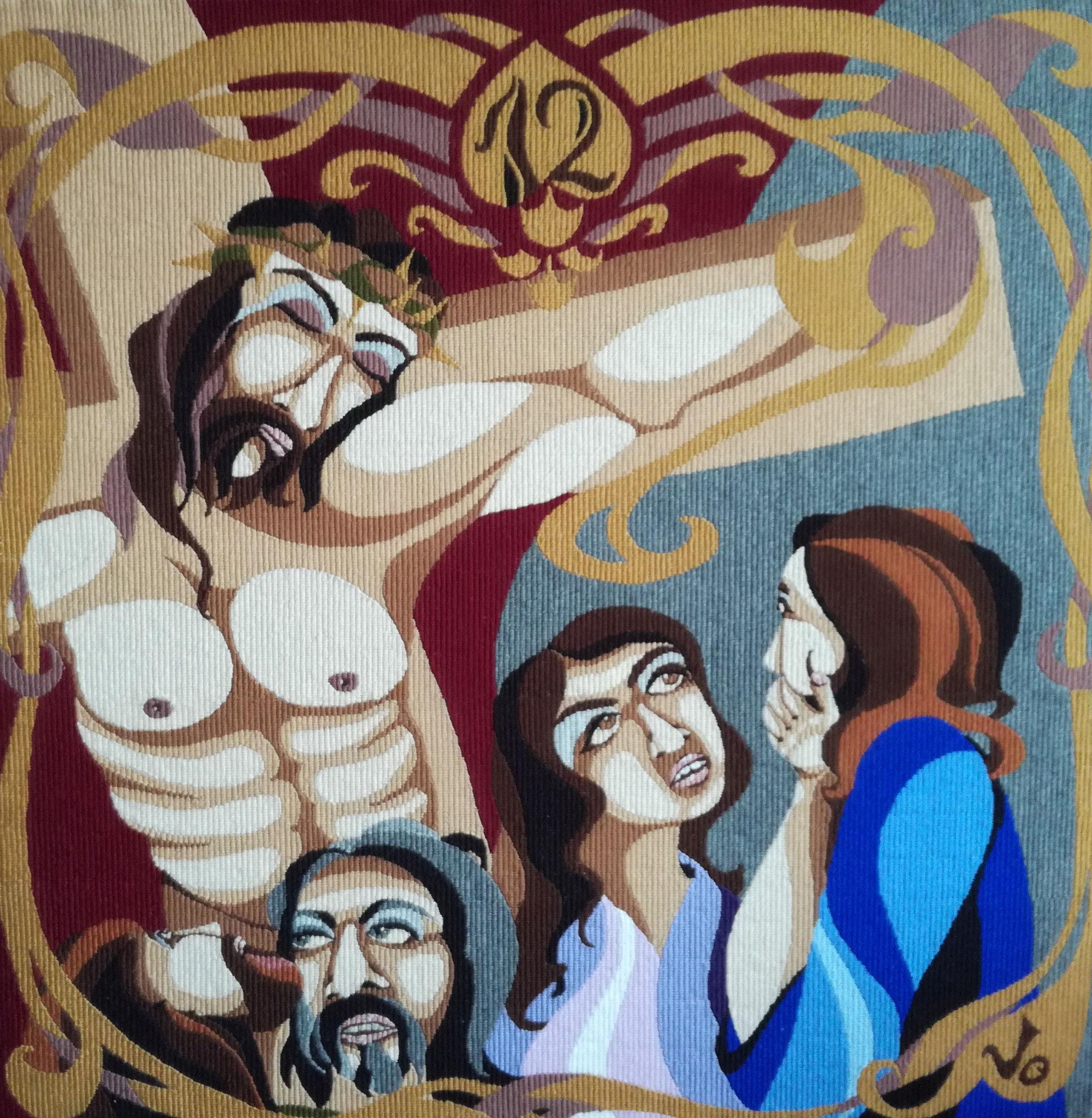 XII. Umírá na kříži