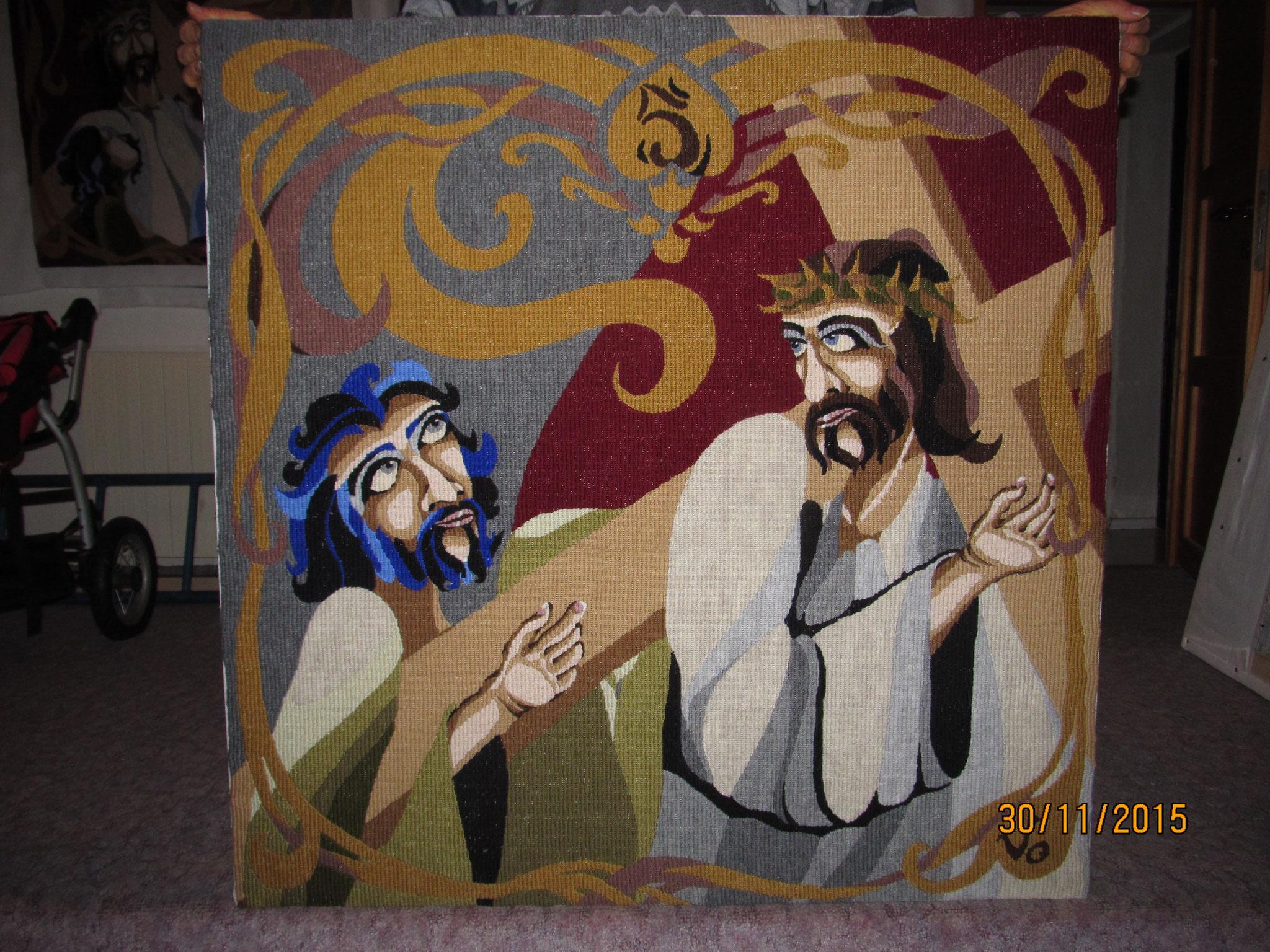 V. Šimon pomáhá nést kříž