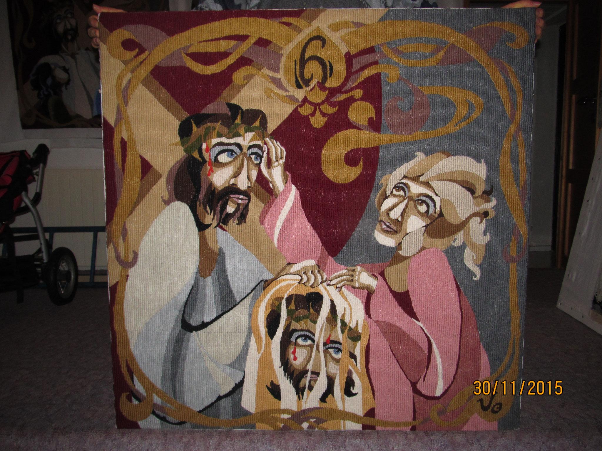VI. Veronika rouškou otírá tvář Krista