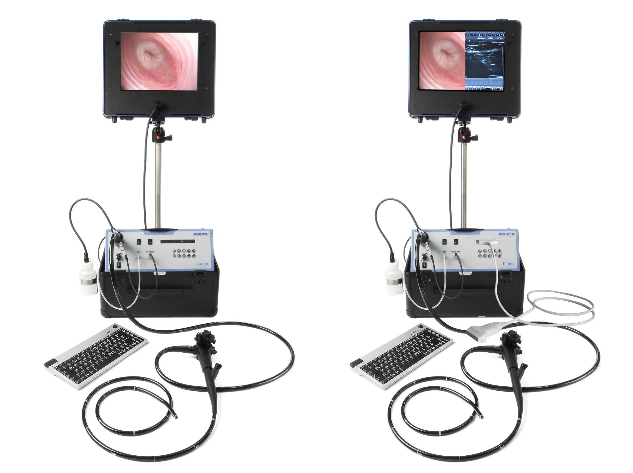 Mobile Einheit mit Endoskopie und Ultraschall