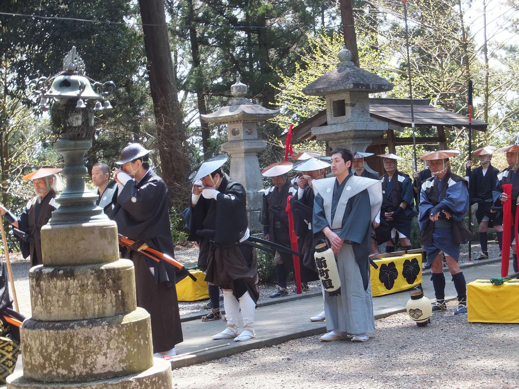 福島県棚倉町での行列安全祈願