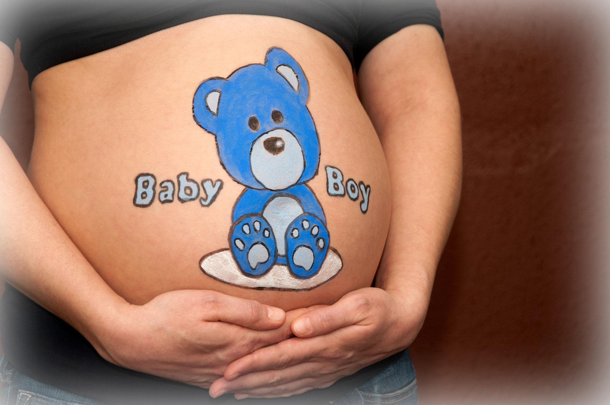 Babybauchpainting Babybauchbemalung Christina Gubiers Webseite