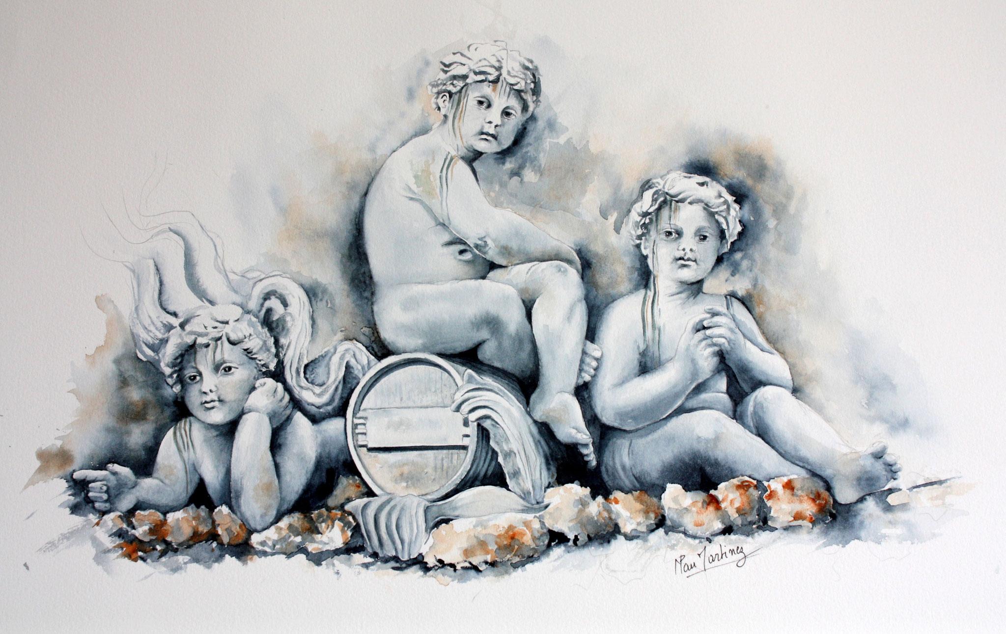 Les enfants - Fontaine des Girondins