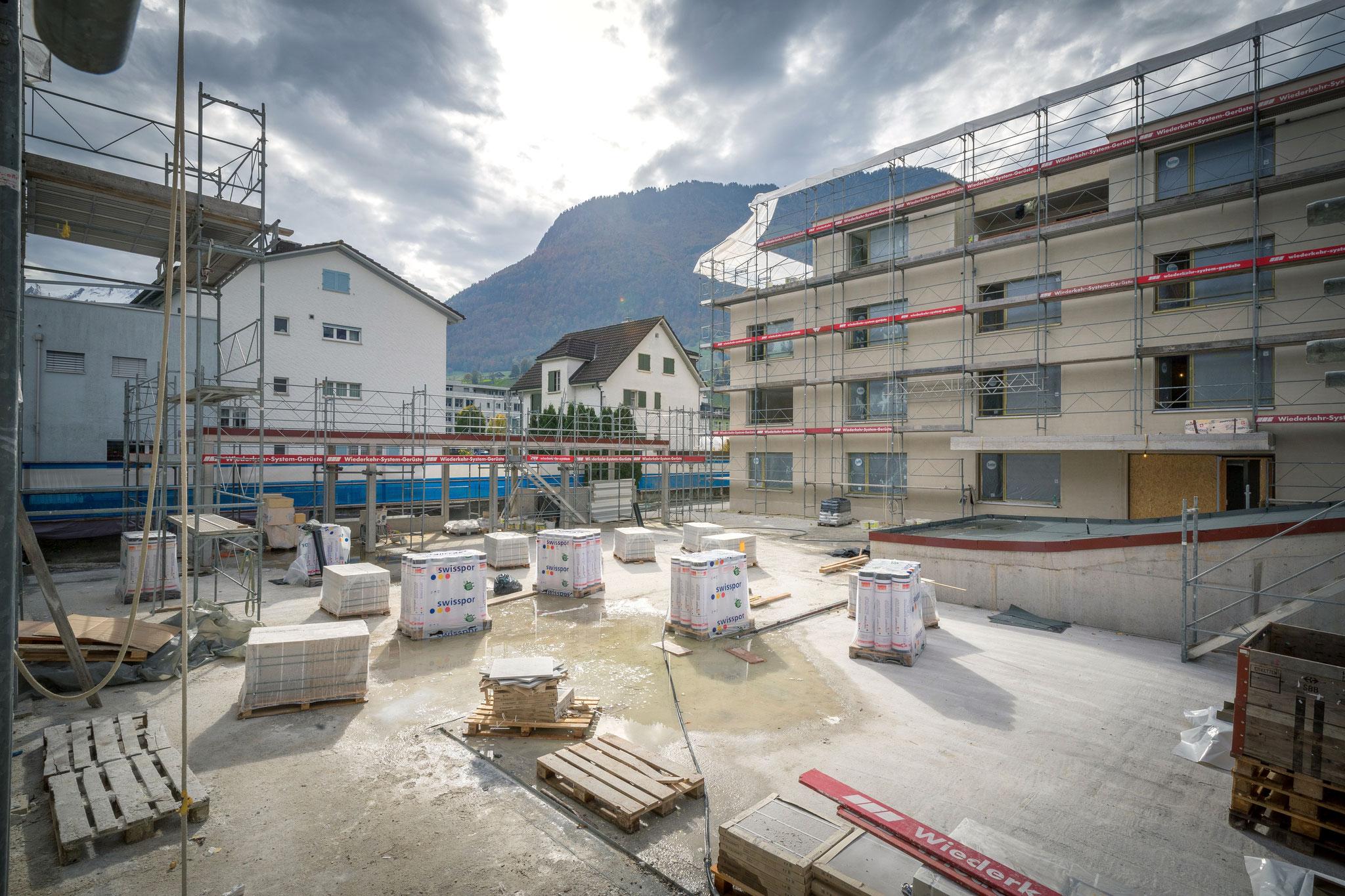 1. Bauetappe, Oktober 2020