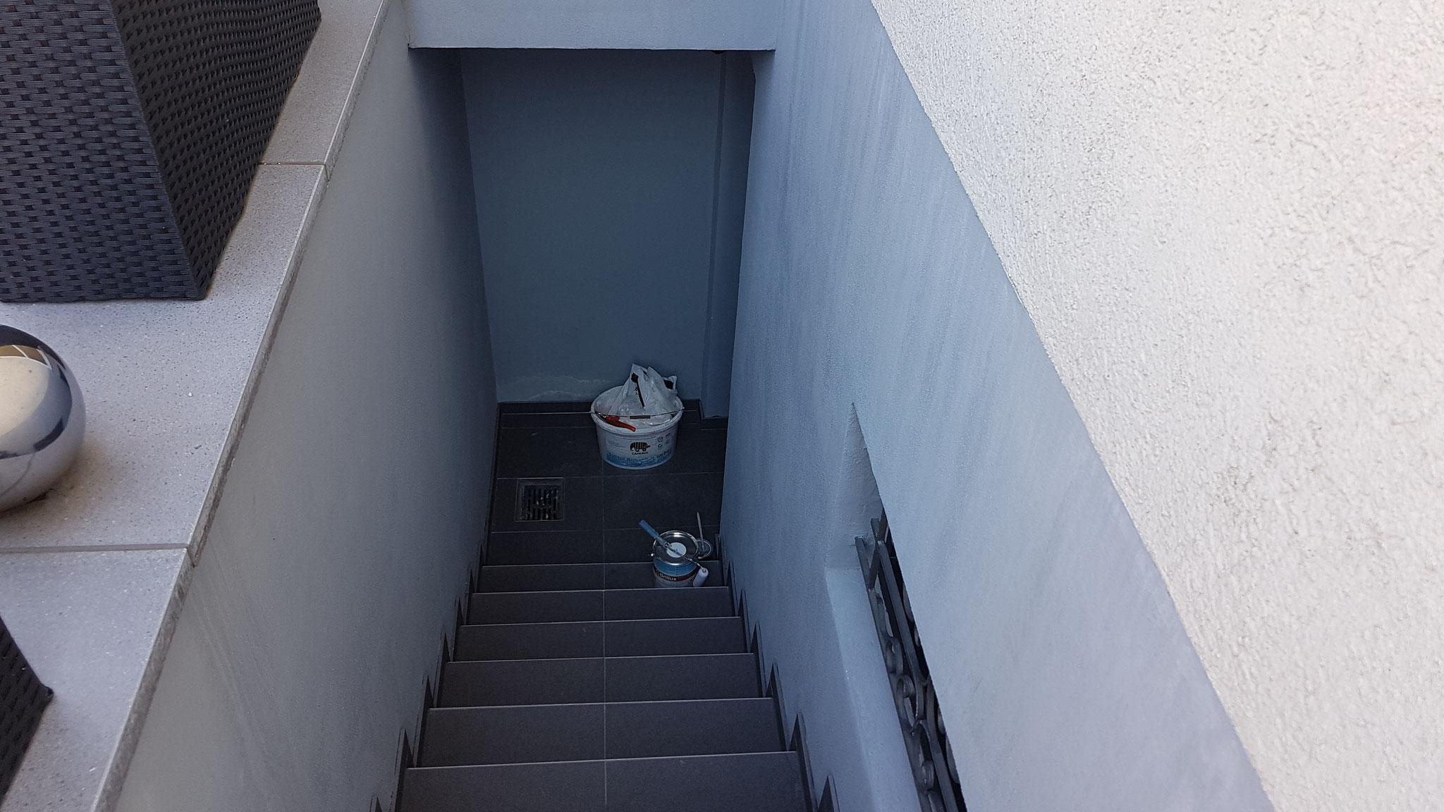 Vorher - Kellerabgang