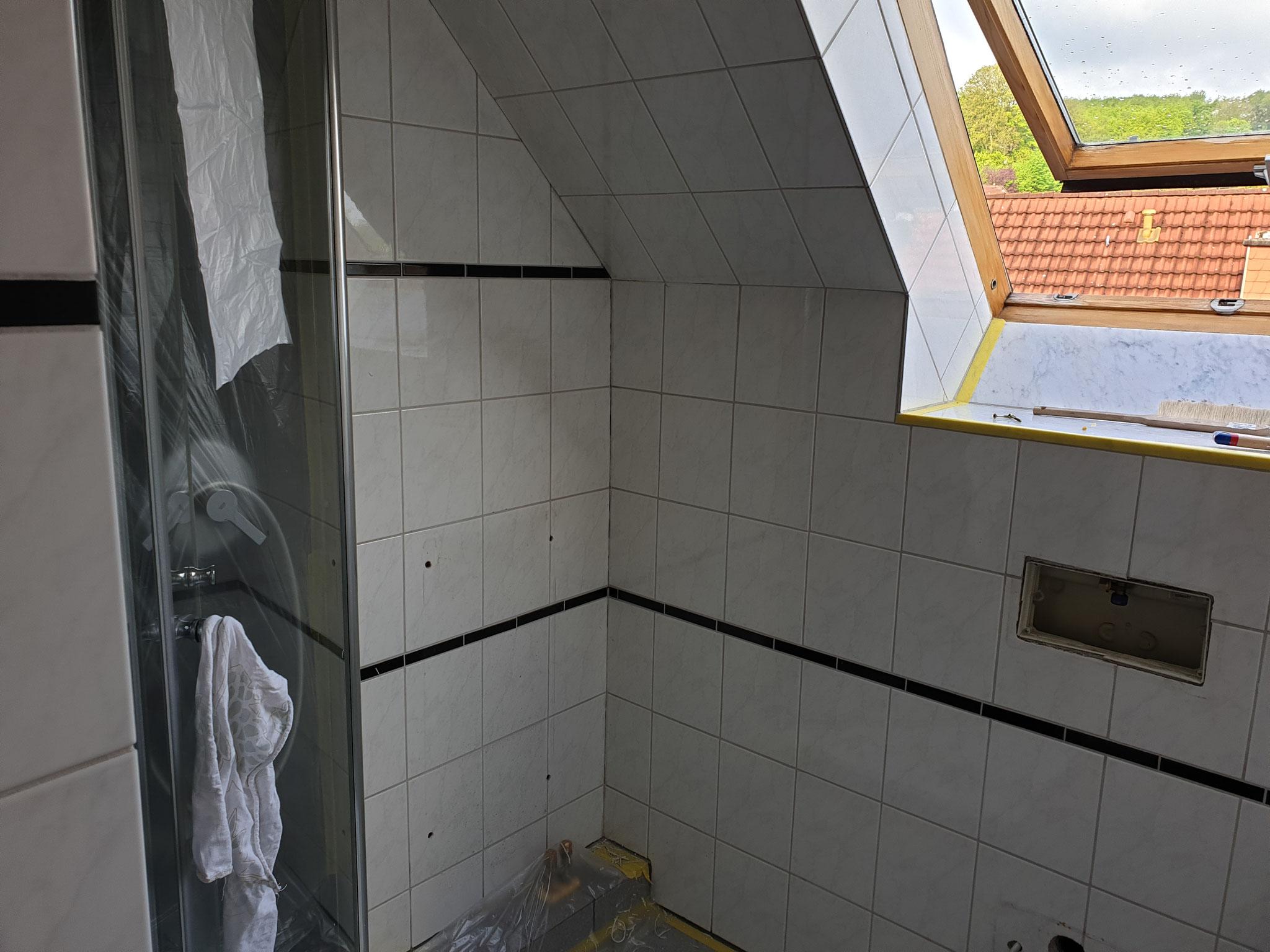 Badezimmer vor der Renovierung.