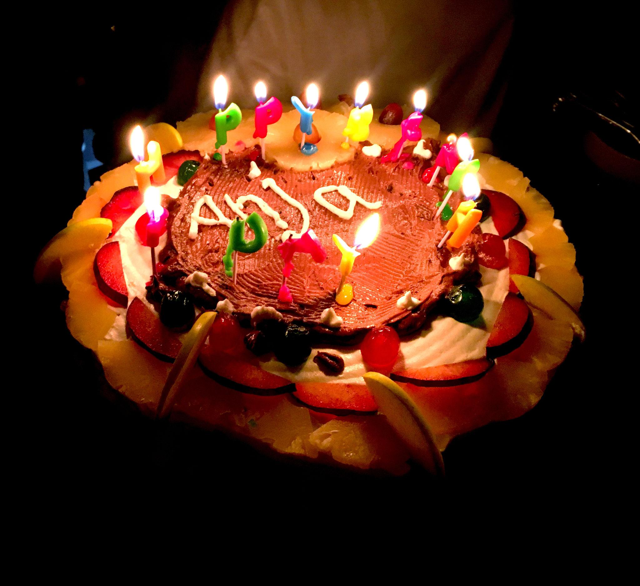 Die Torte zum 30. Geburtstag durfte nicht fehlen.