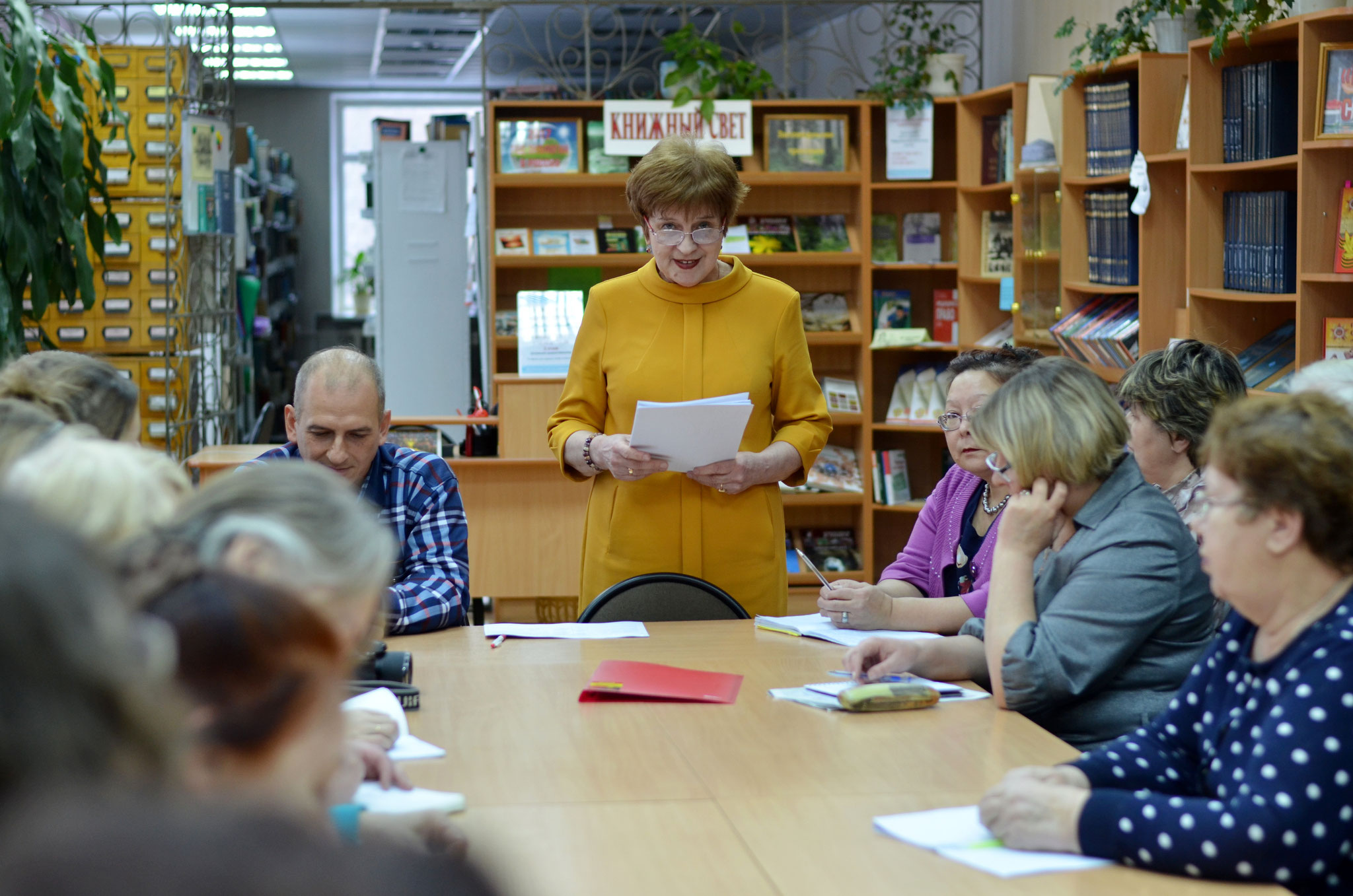 Выступление директора библиотеки Т. М. Давыдовской