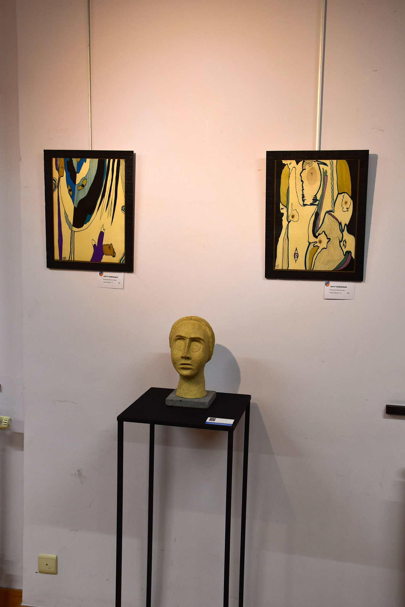 Sculpture et peintures de Dominique Petit