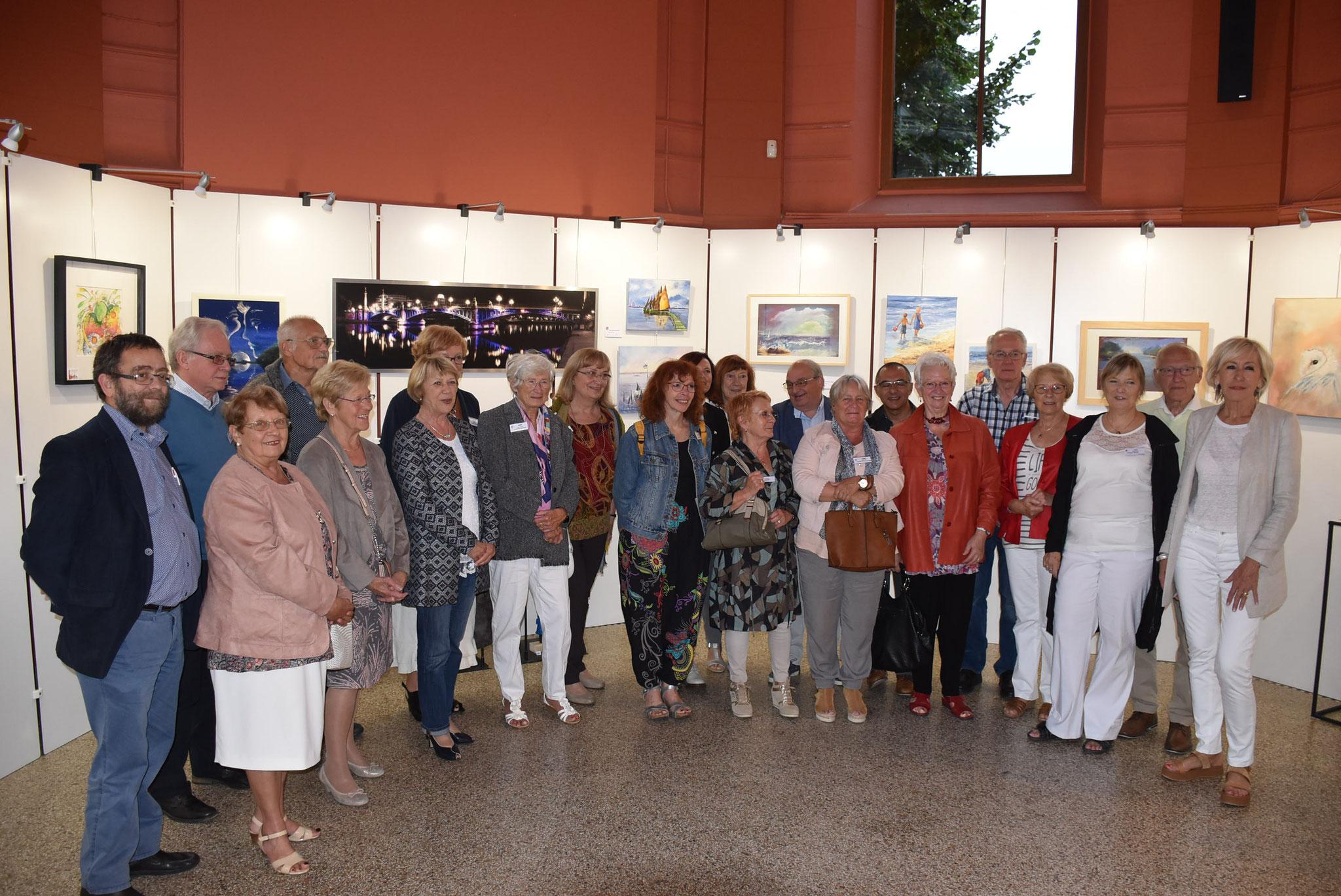groupe des artistes à Visé, 2017