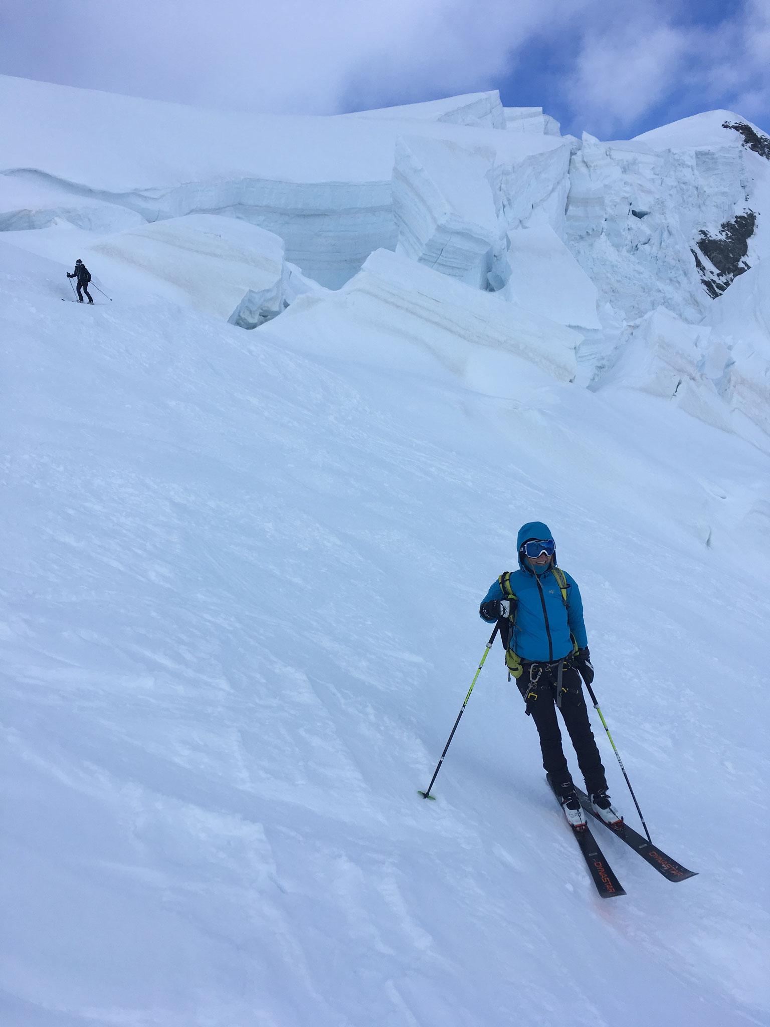 Descente ski par Grand et Petit Plateau