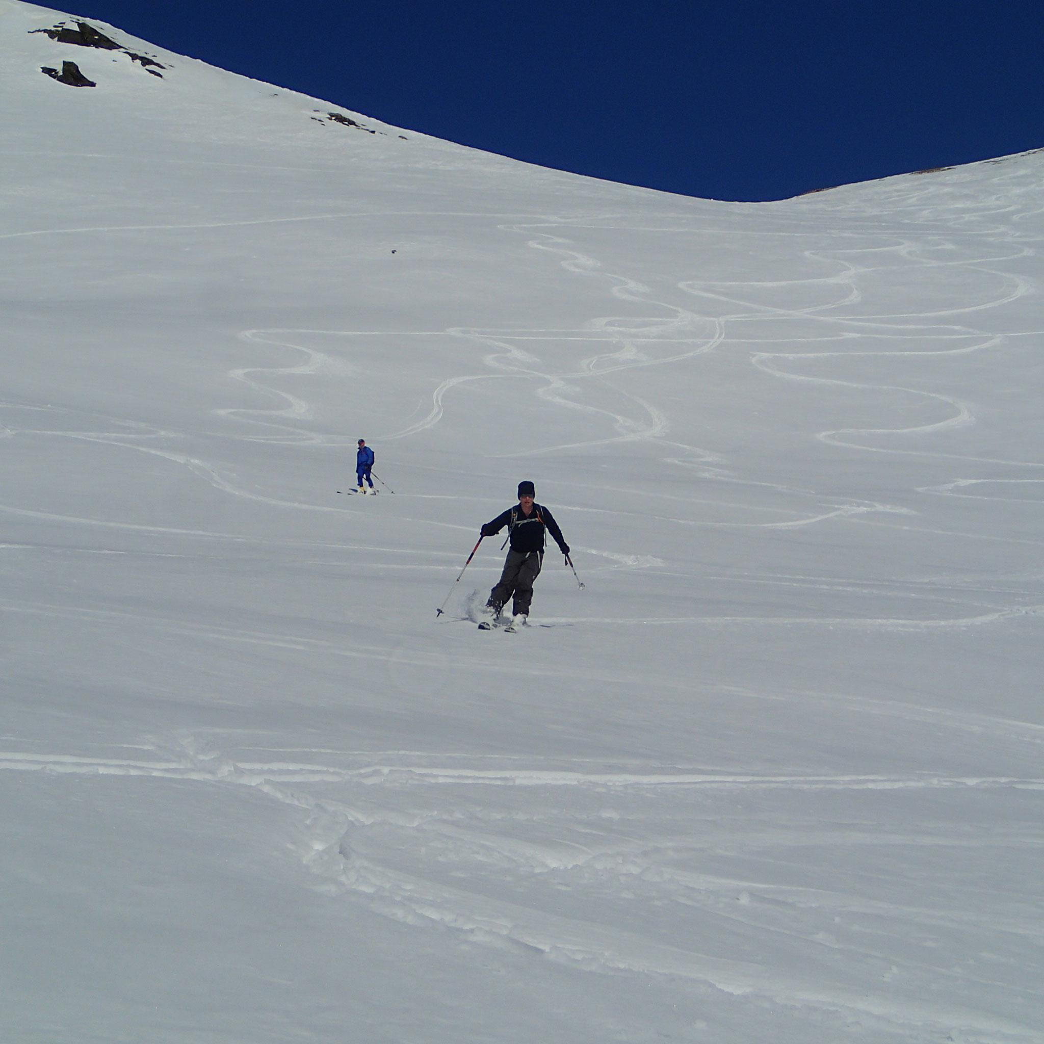 Encore du beau ski à la descente !